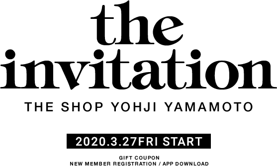 the invitation THE SHOP YOHJI YAMAMOTO