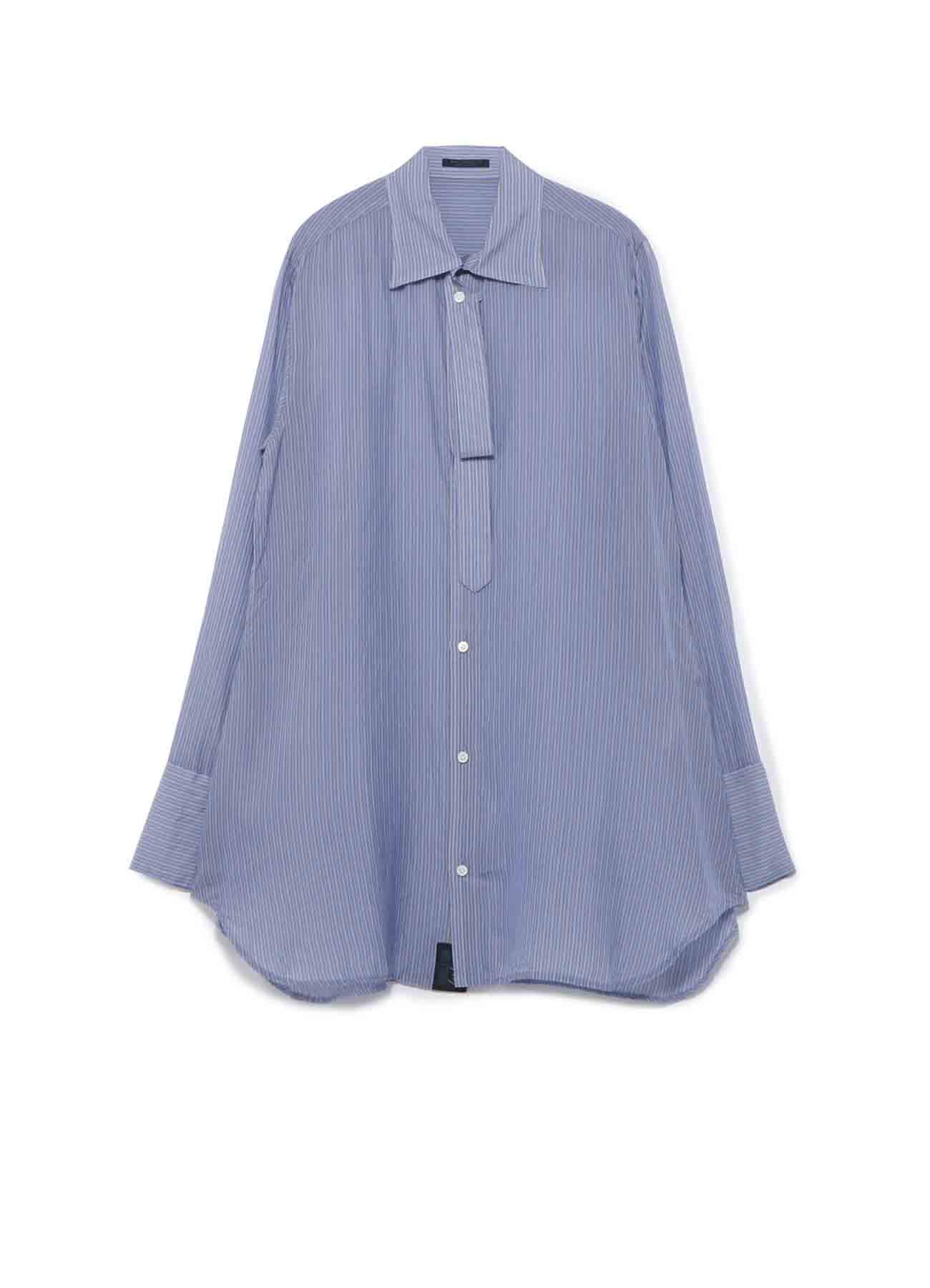 先染CuストライプR-ボウタイシャツ