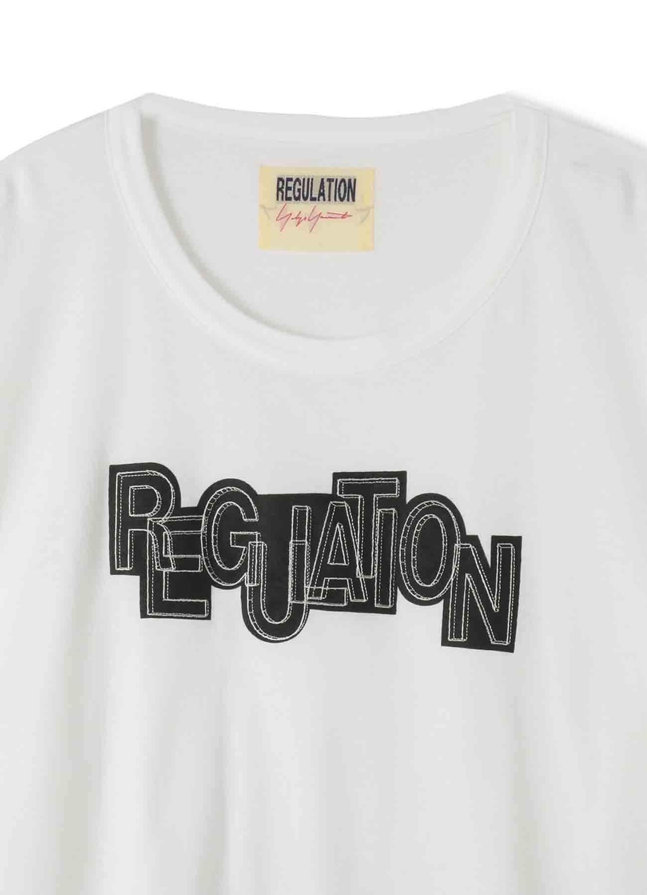 コットンレギュレーションプリント+刺繍T