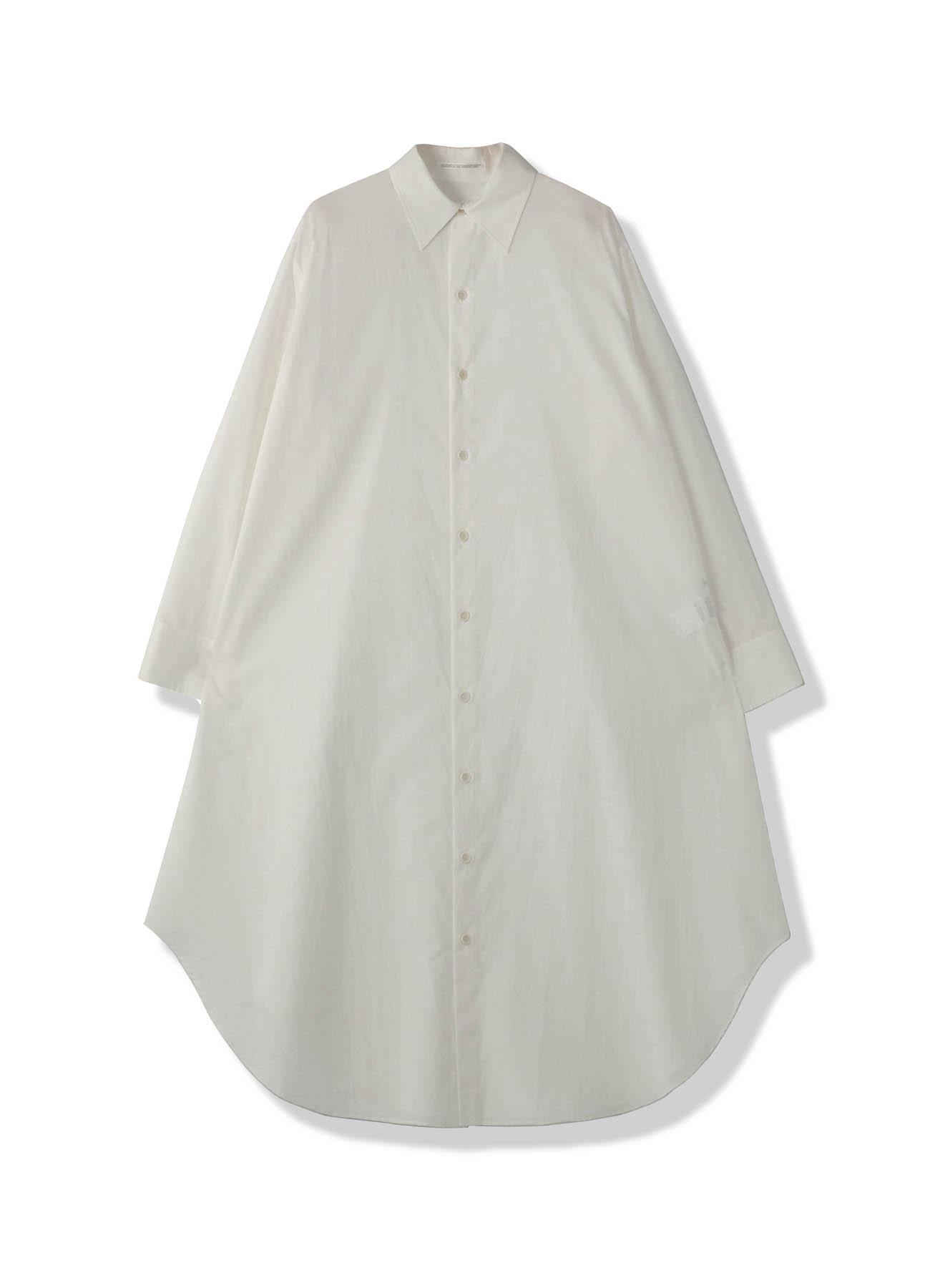 コットンローンロングドレスシャツ