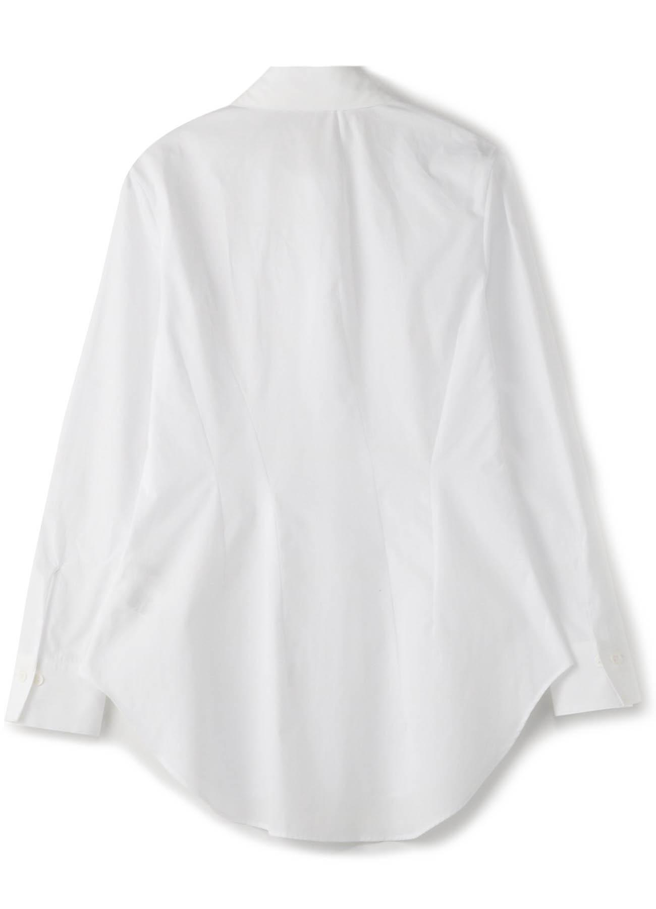 100/2ブロードダーツスリムシャツ