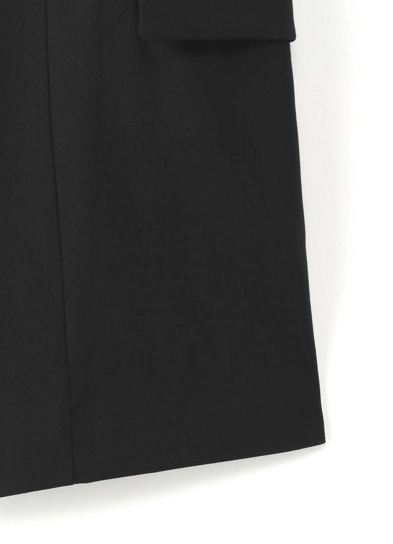 シワギャバ2ツ釦ショートピークジャケット