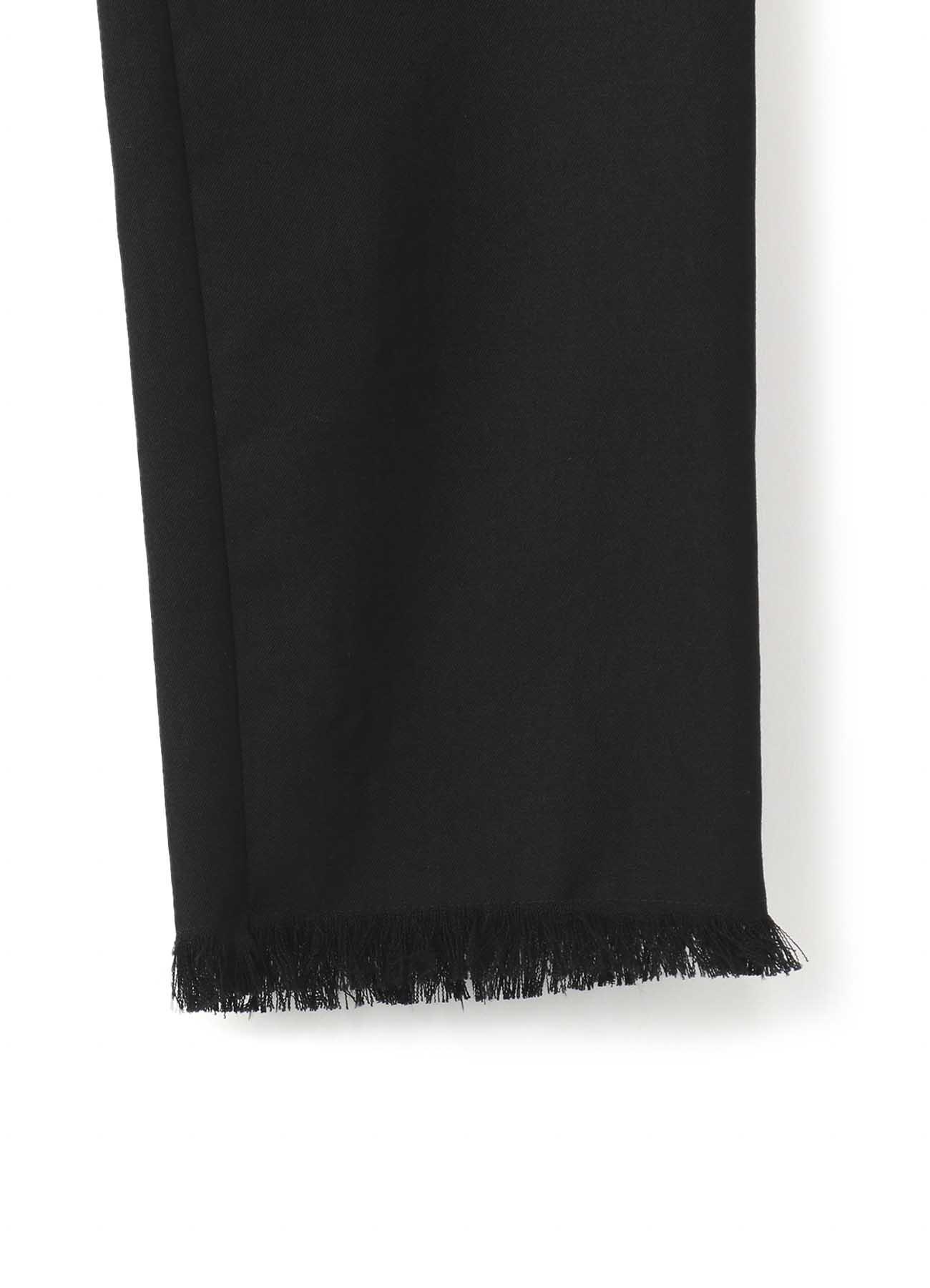 シワギャババック編みスリムパンツ