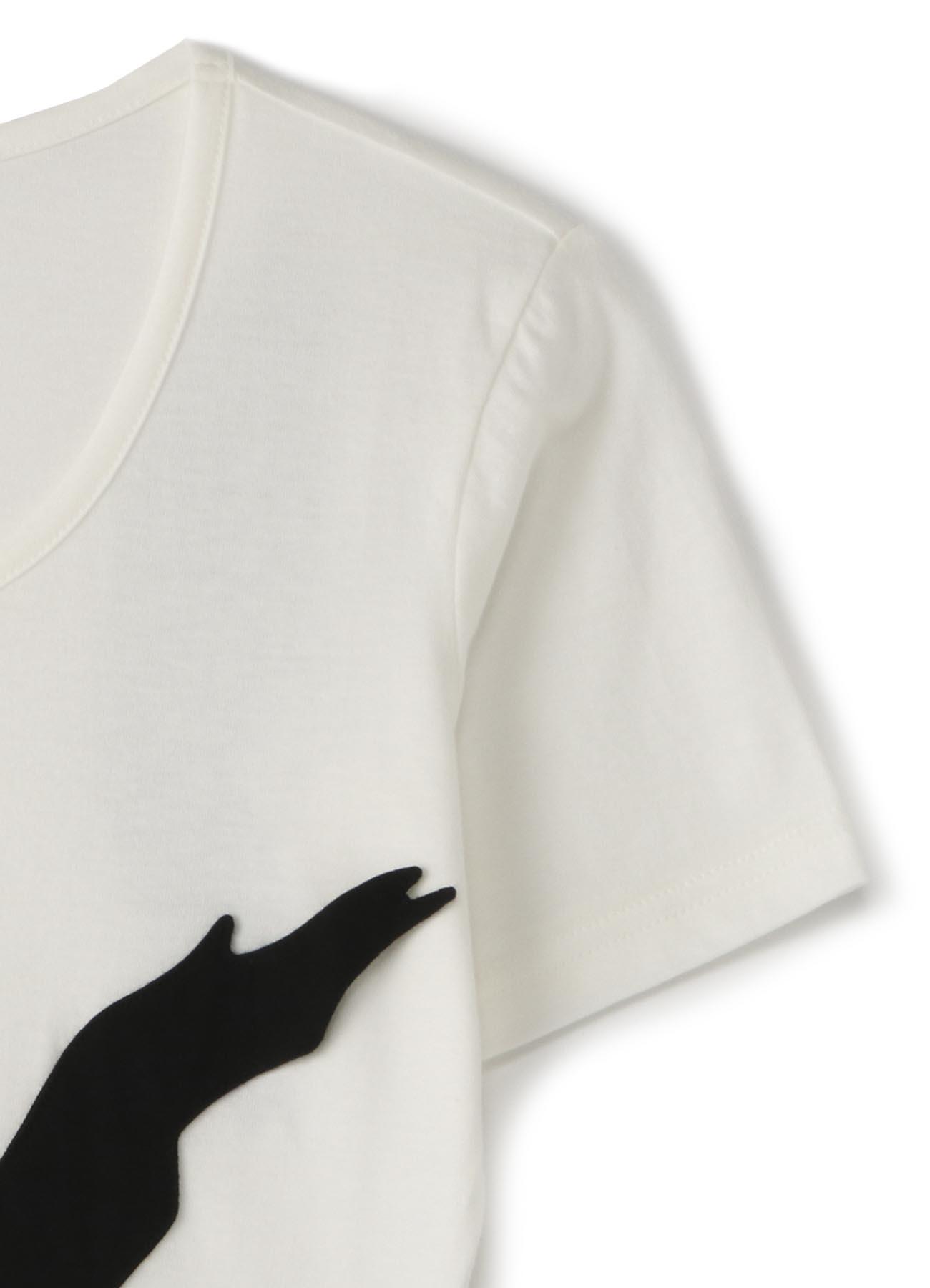 綿天竺くり抜き半袖