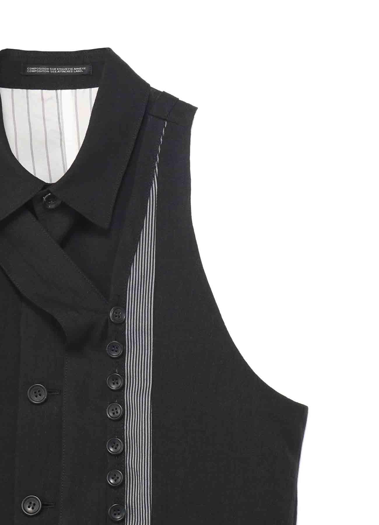 60Li解撚C.C左レイヤーシャツ襟ベスト