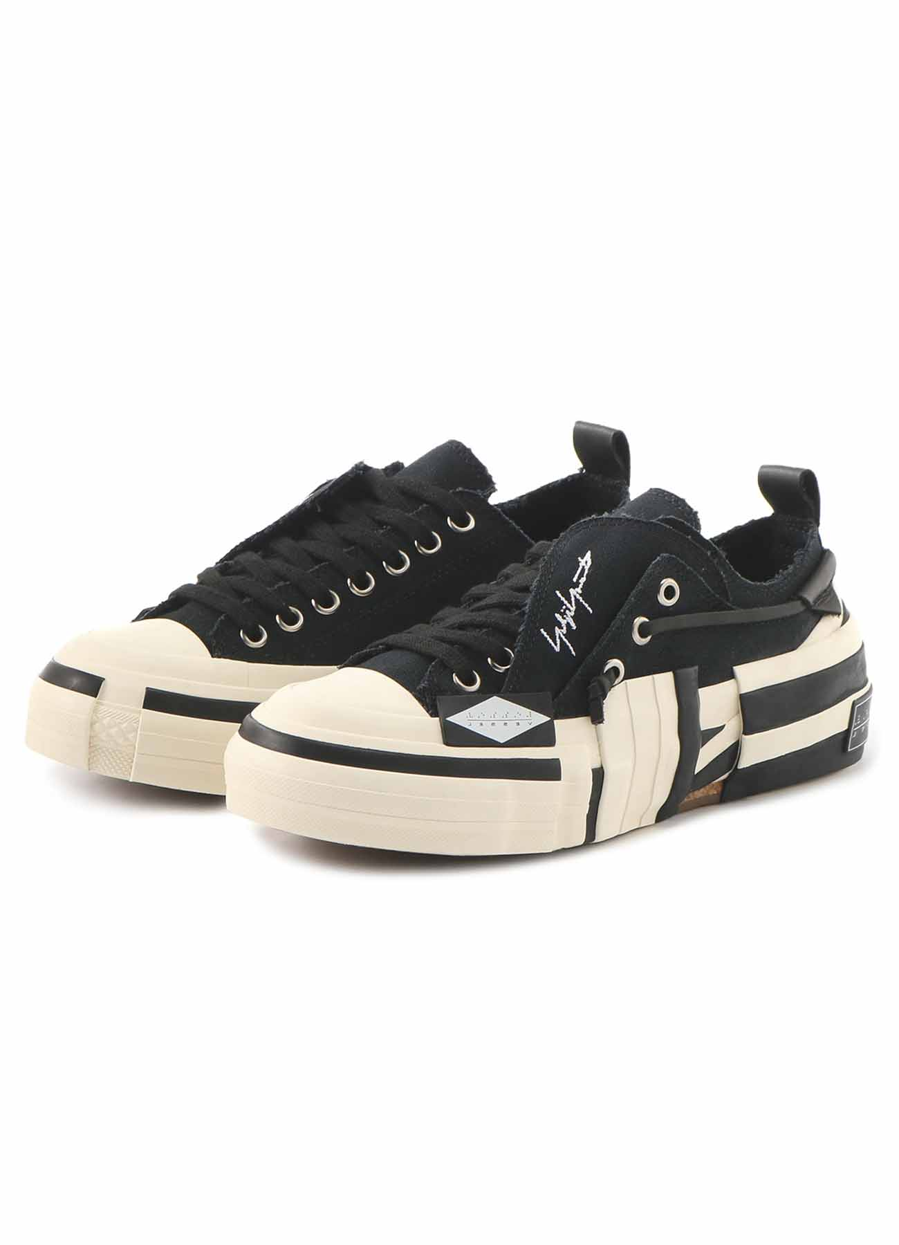 C/CANVAS BK LAYERED LOW TOP SNEAKERS