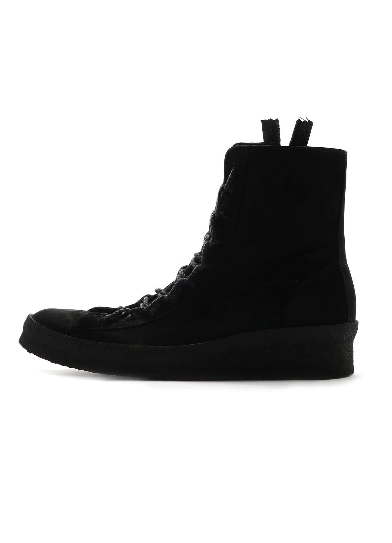 HORSE NUBUCK LACE UP BOOTS