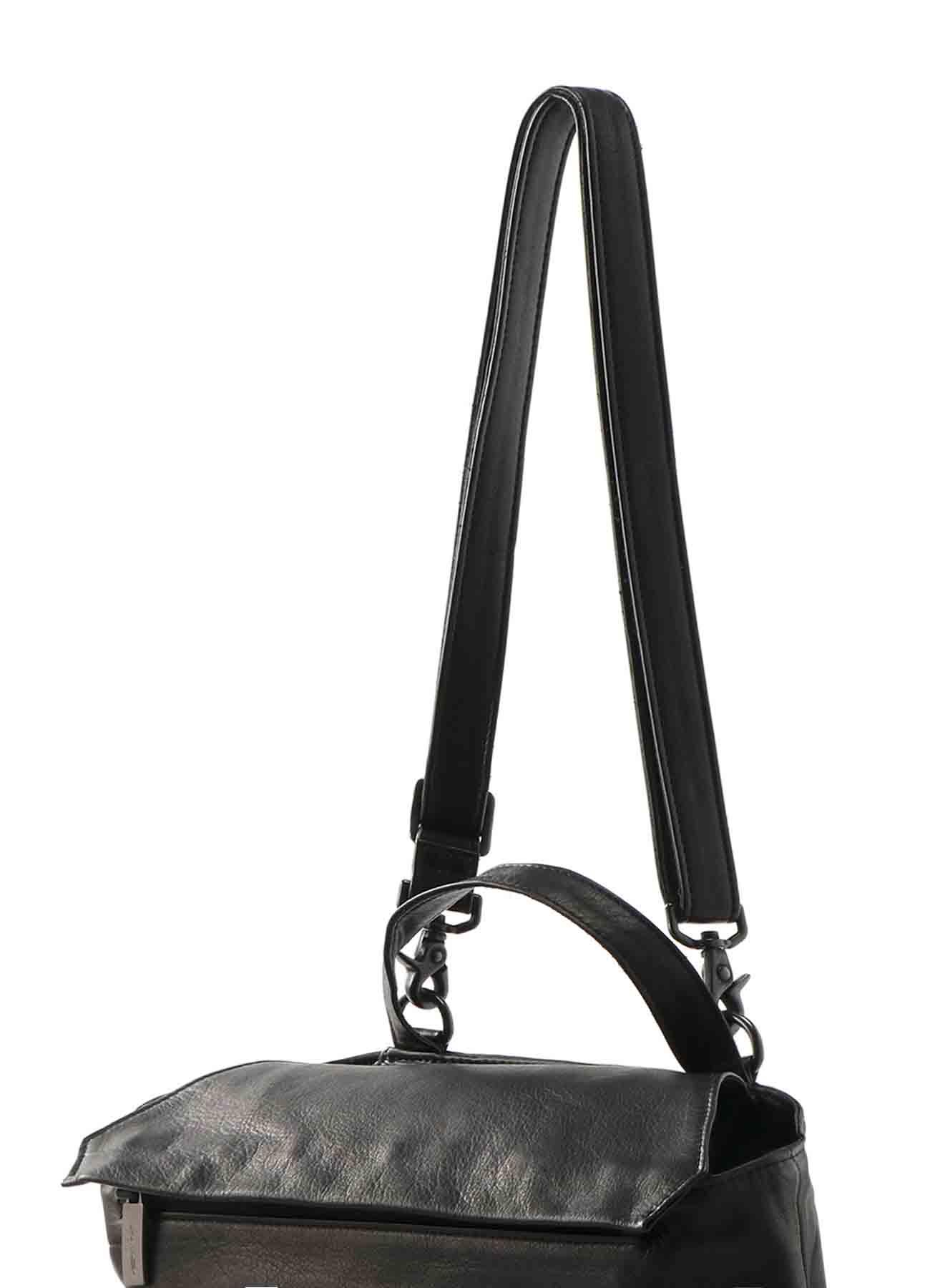 GARMENT LEATHER DRAPED SHOULDER BAG