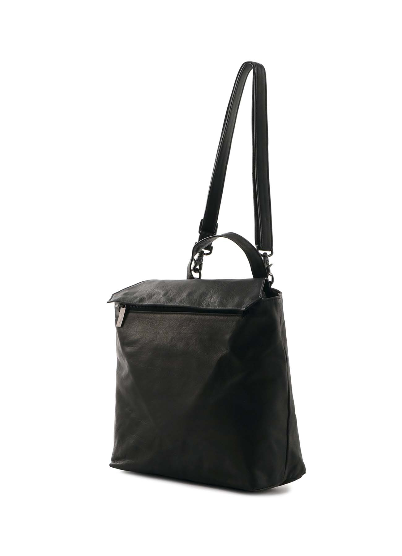 GARMENT LEATHER DRAPED SHOULDER BAG
