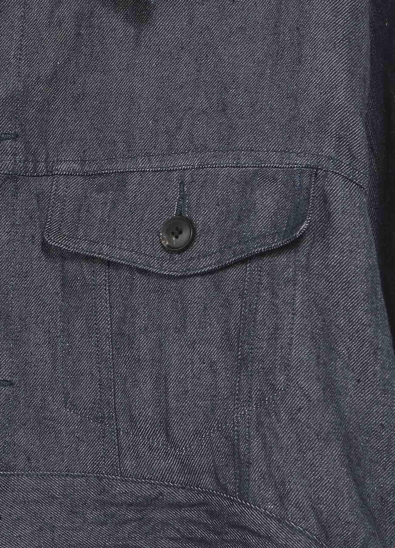 10オンスリネンデニム-ショートGジャケット
