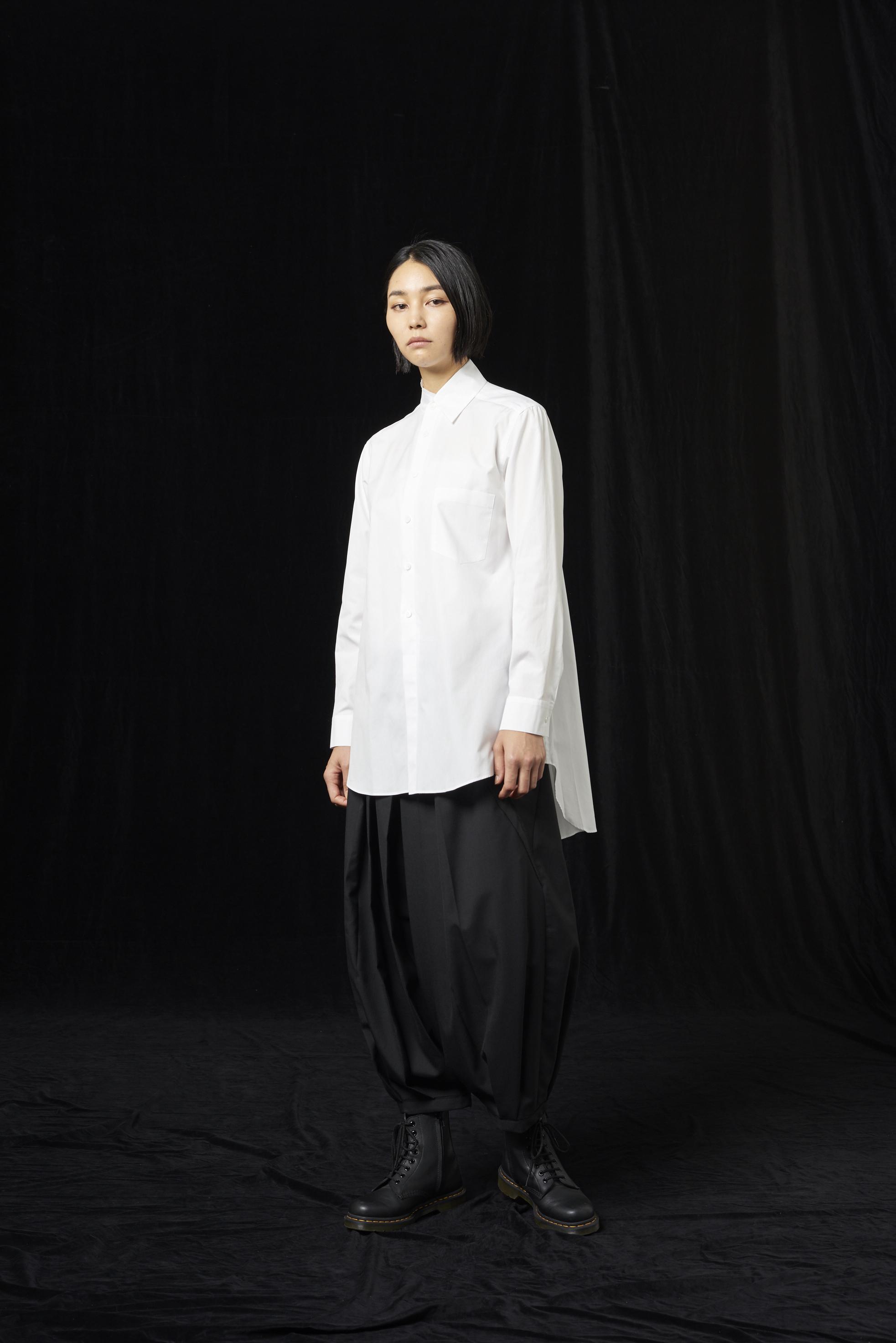 100/2棉质宽领衬衫