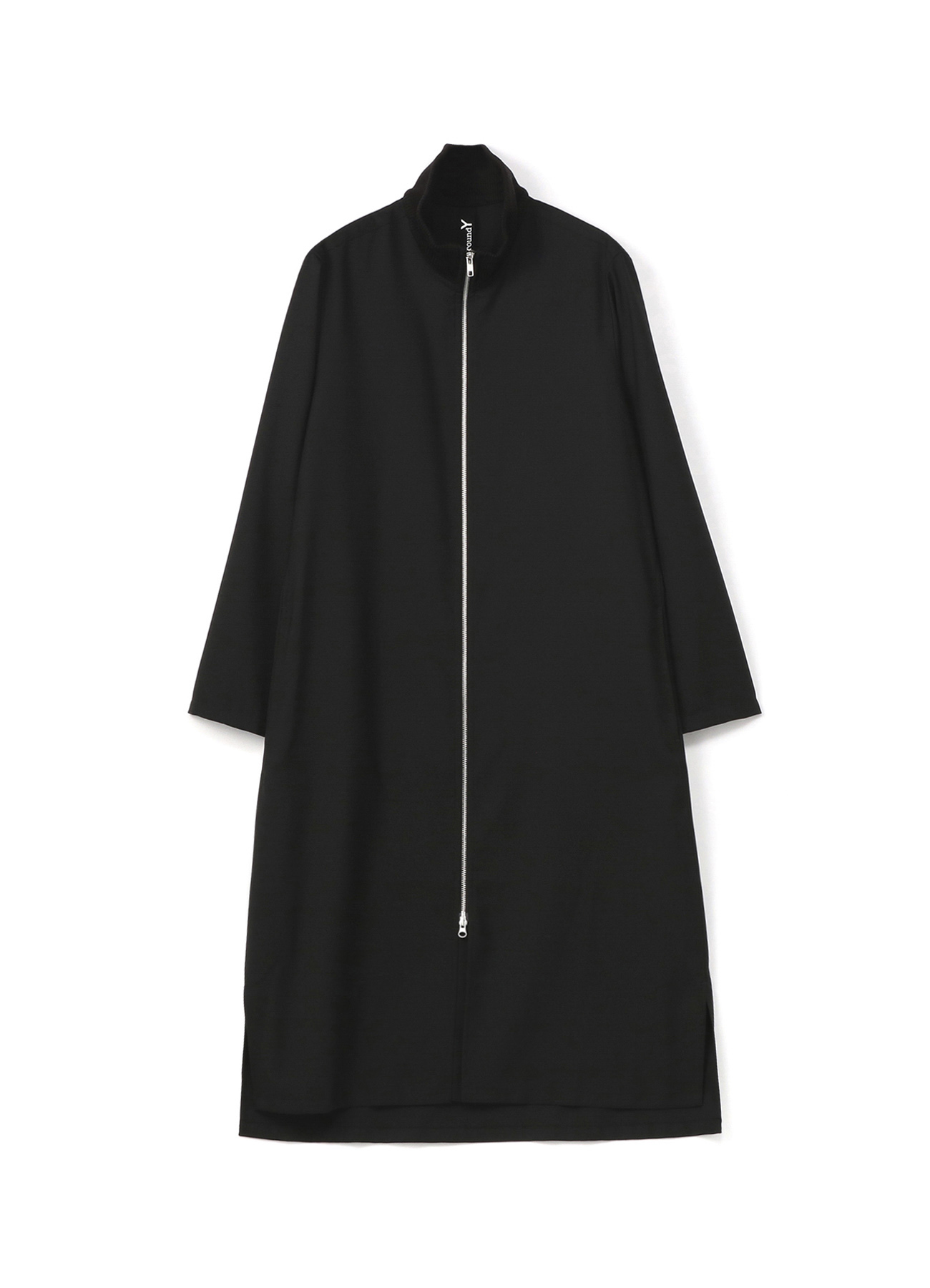 T/W Gabardine Rib Collar Long Shirt