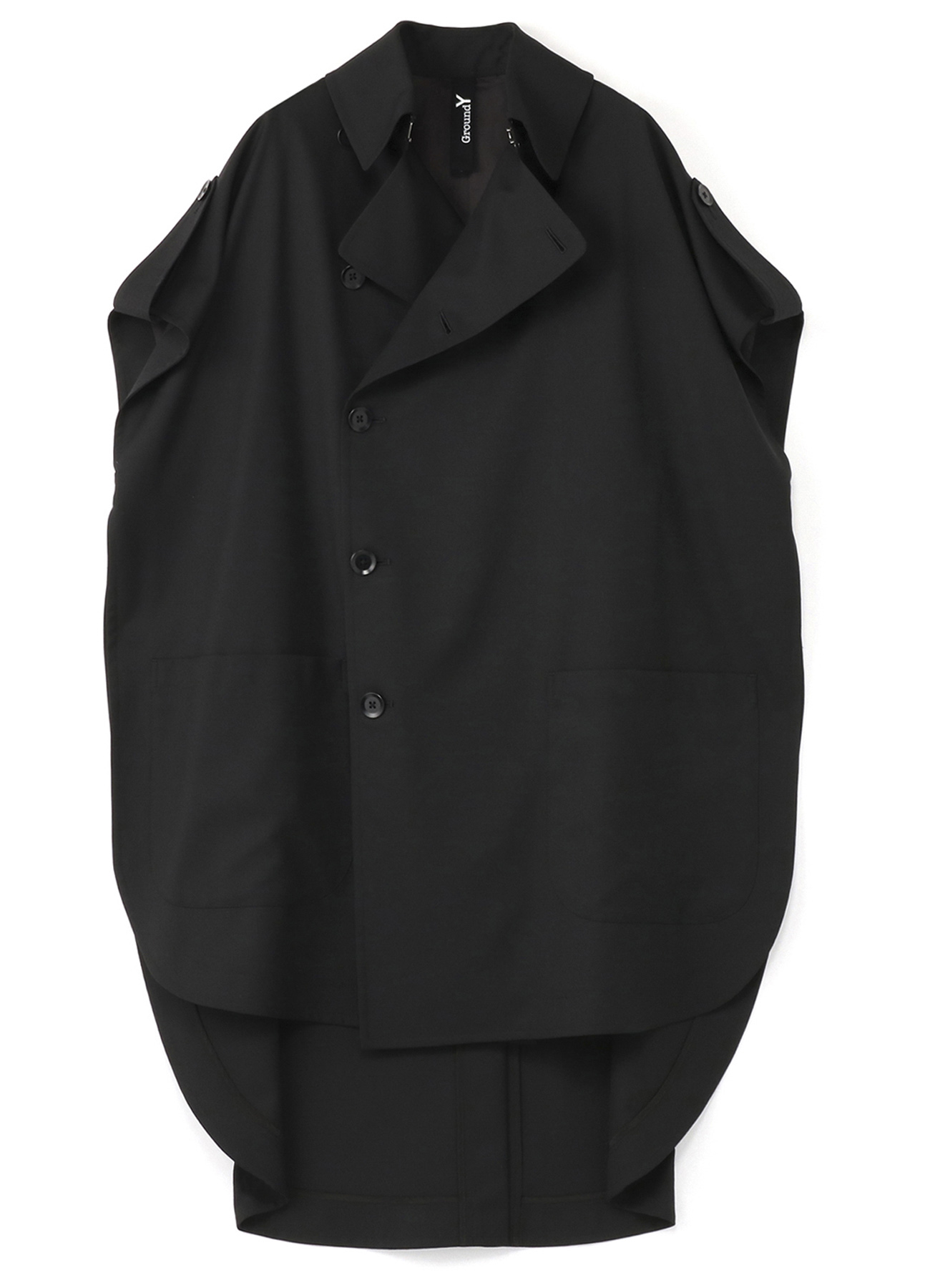 T/W Gabardine Cape Coat