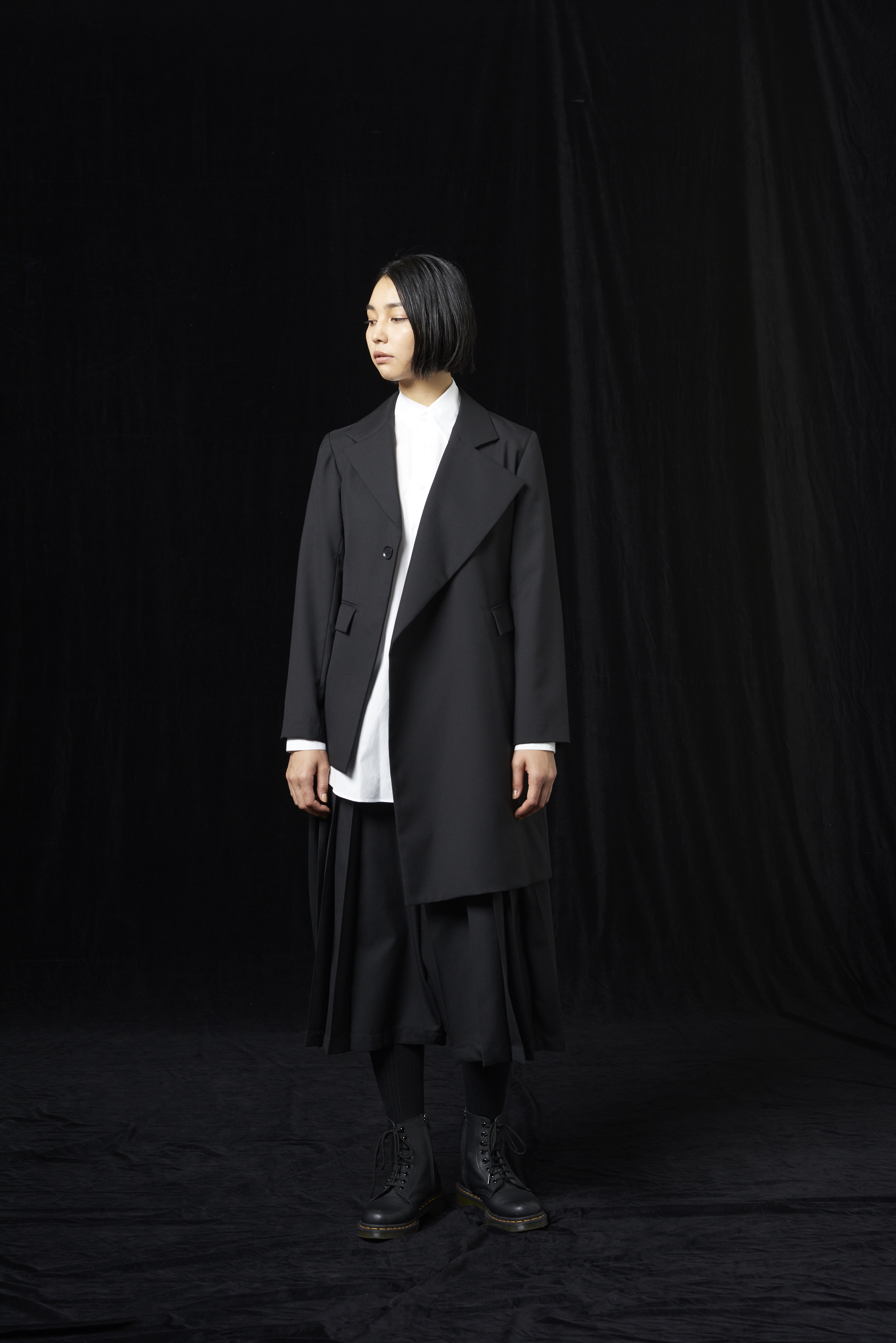 T/W Gabardine Asymmetry Jacket