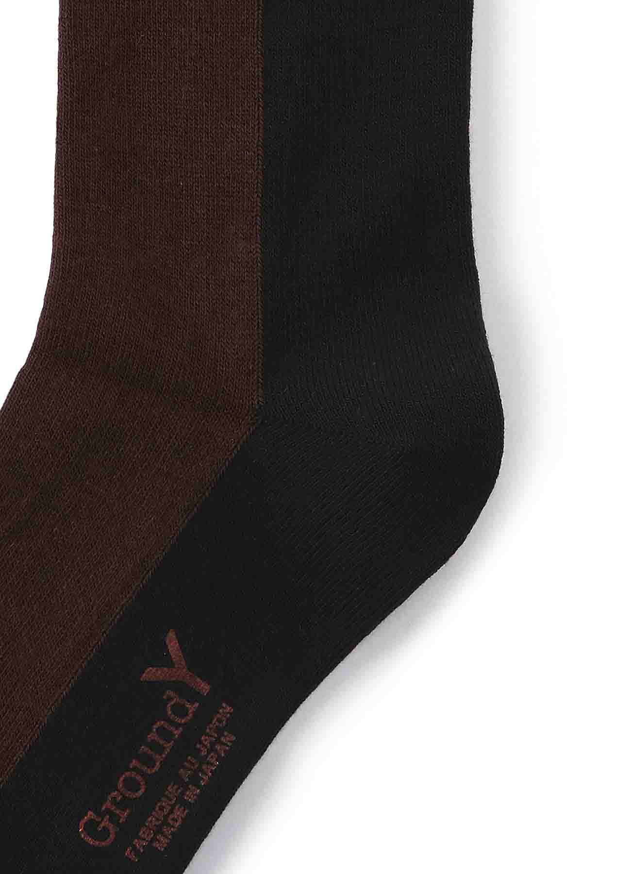 Front and Back Two Color Socks