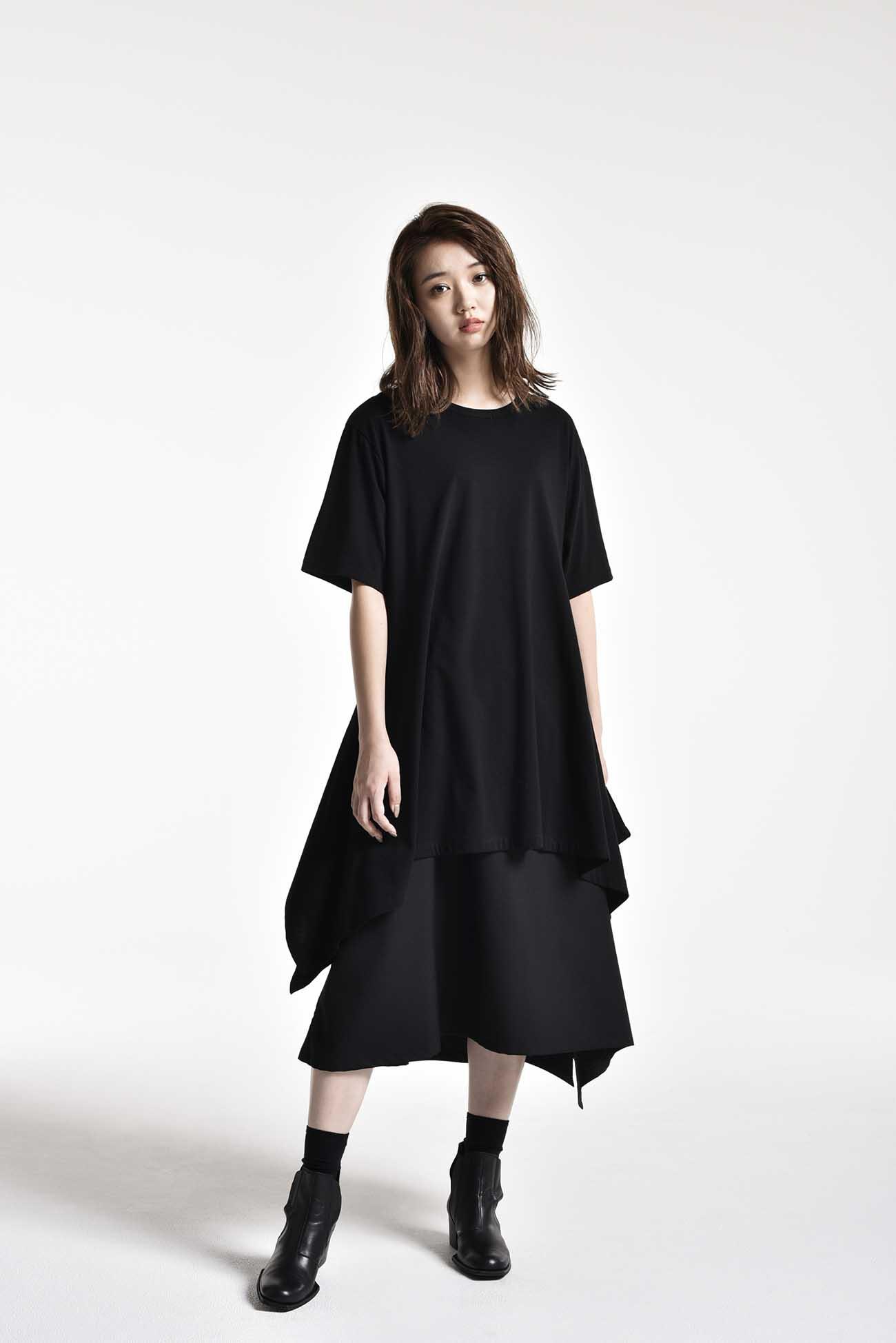 T/W Gabardine Left-Handed Gathered Skirt