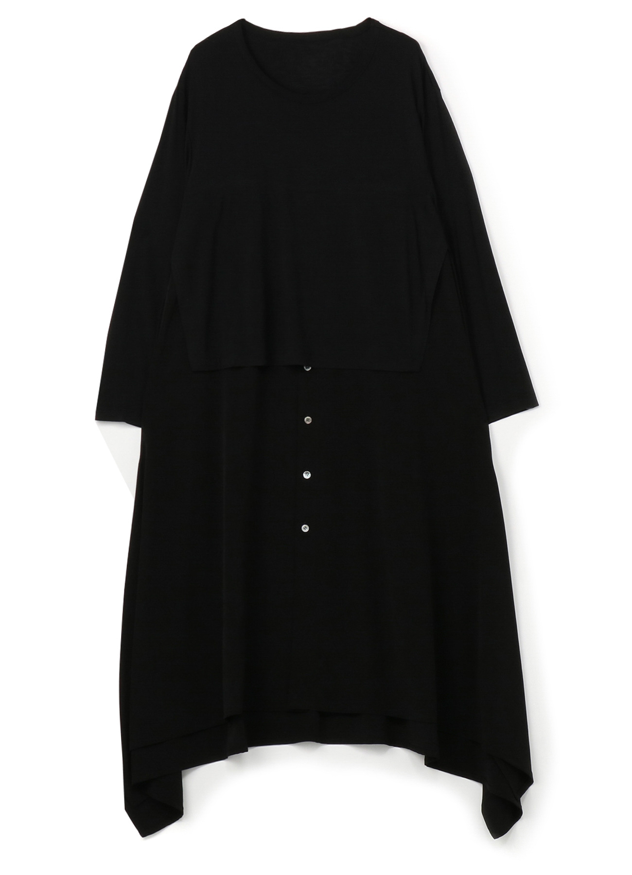 Vintage Decyne Jersey Long Shirt Docking Cut Sew