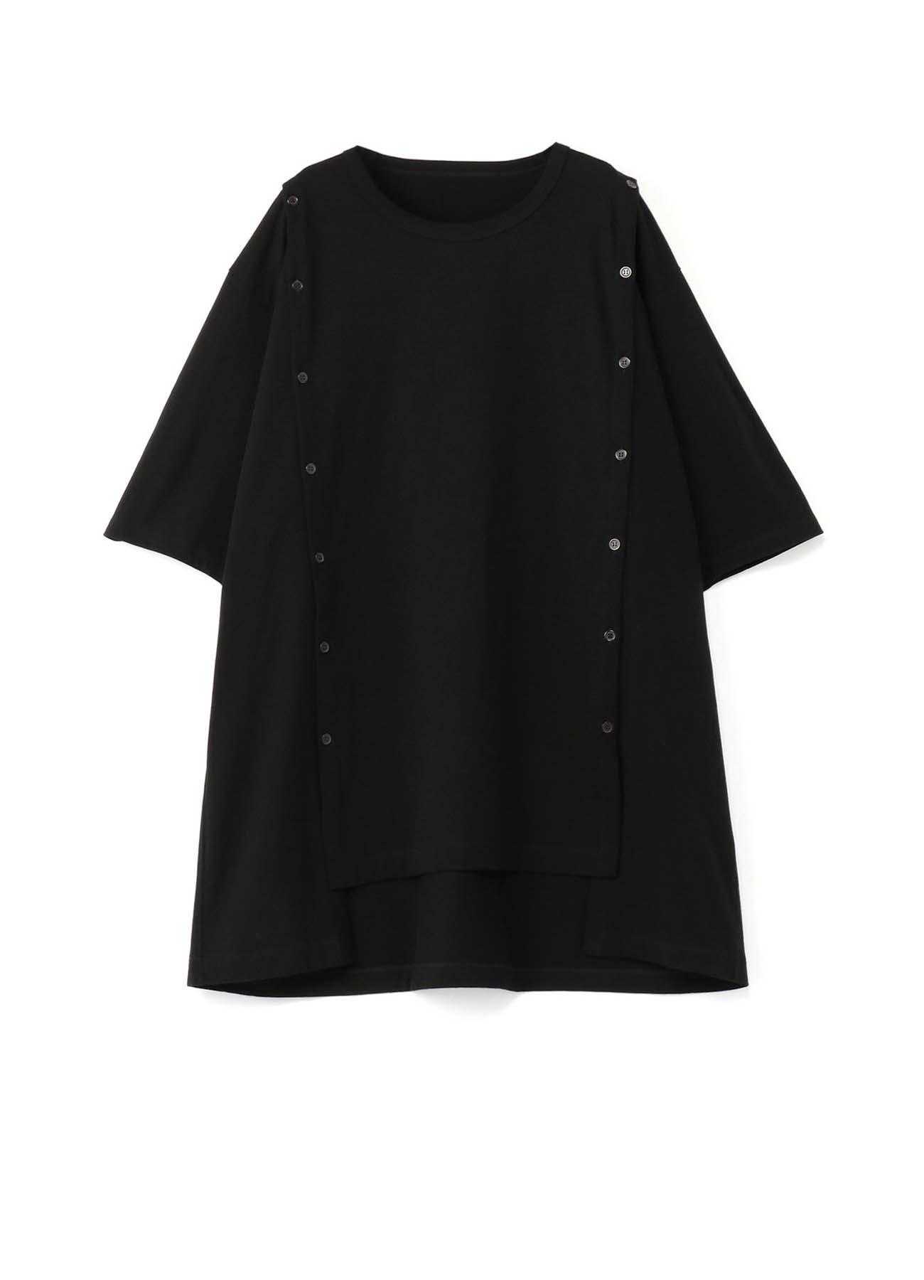 30/cotton Jersey Open Button Long Sleeve Jumbo T