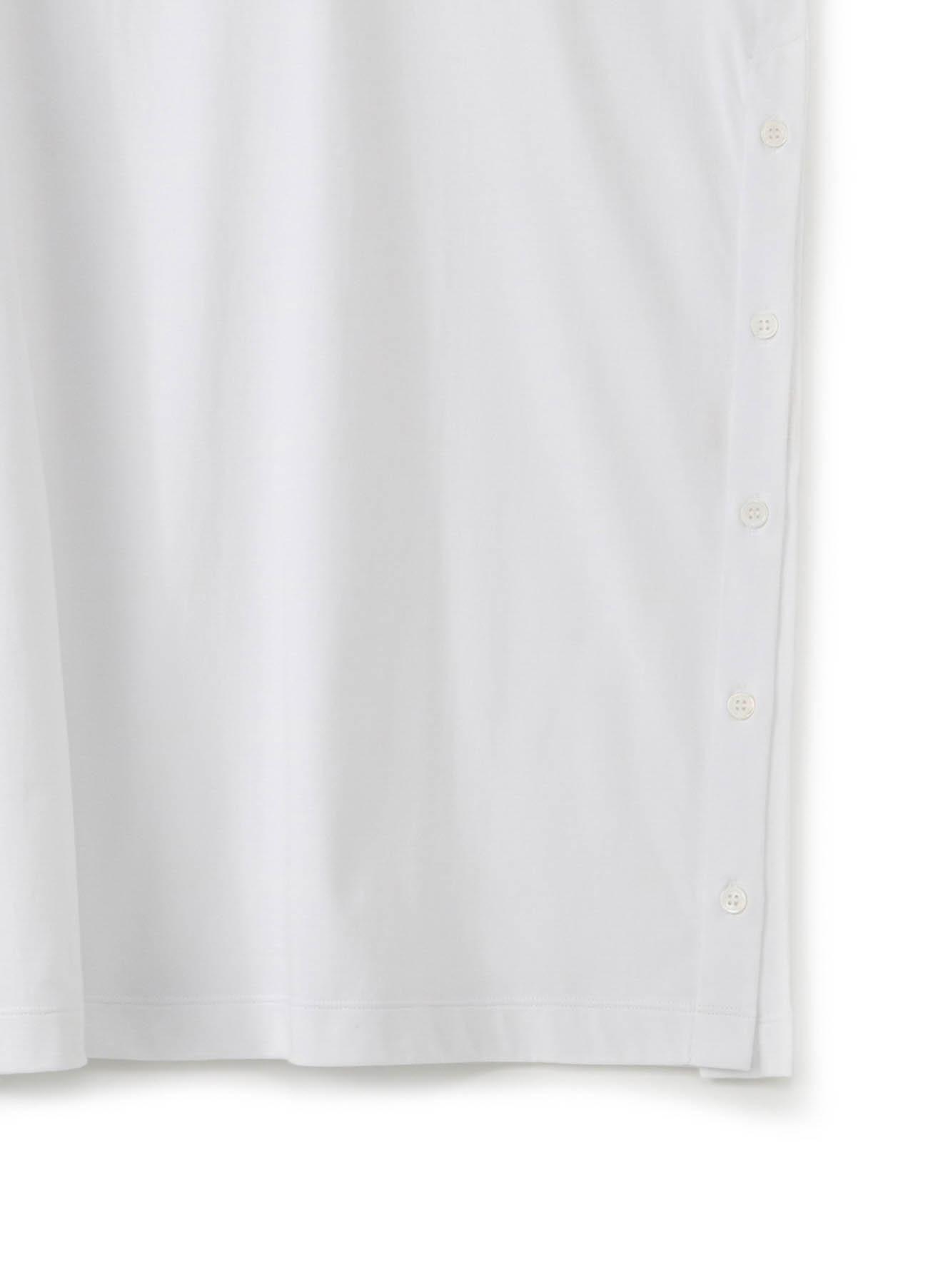 30/cotton Jersey Side Button Long Sleeve Jumbo T