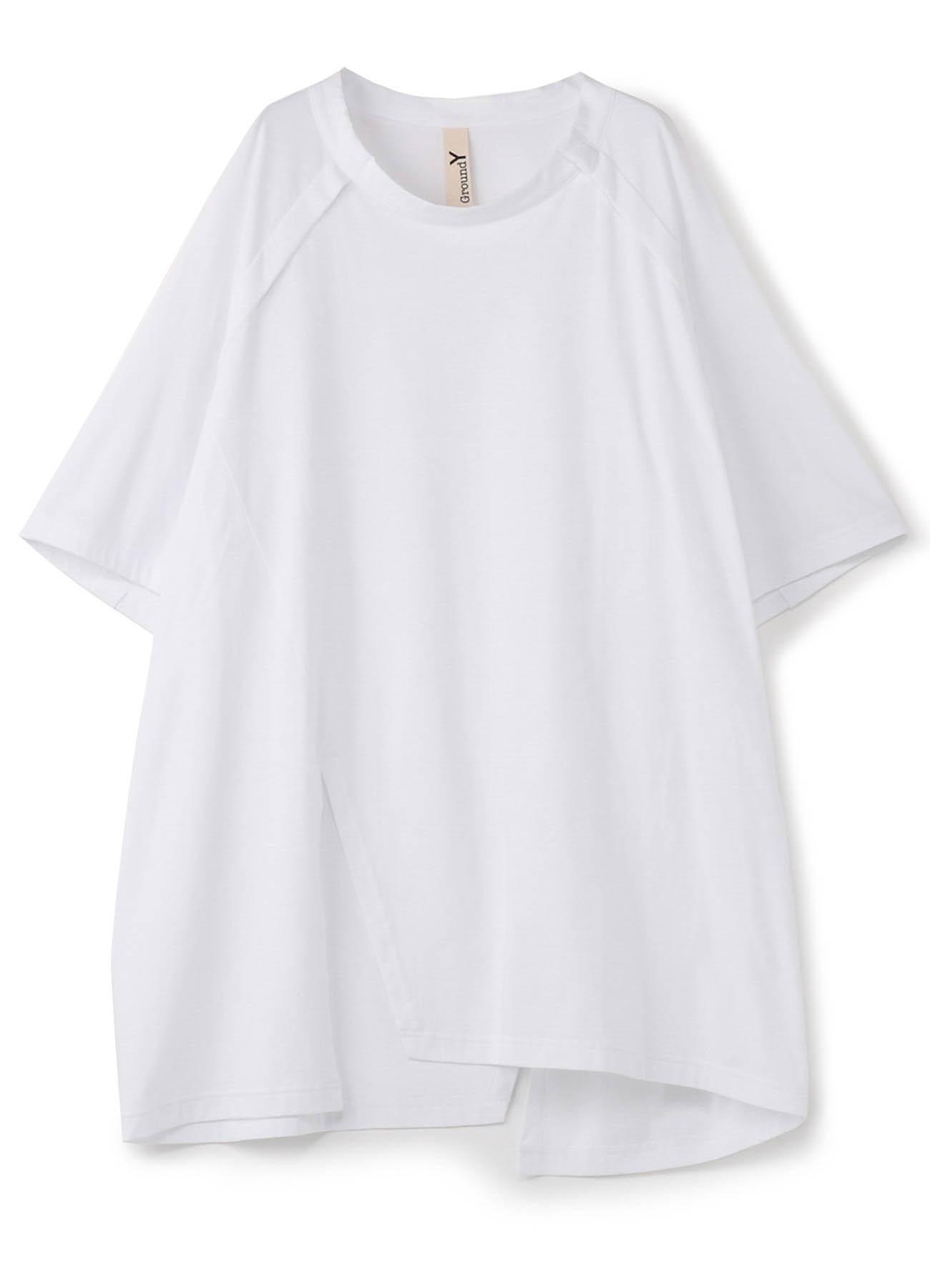 30 /棉质平针织前插肩短袖T