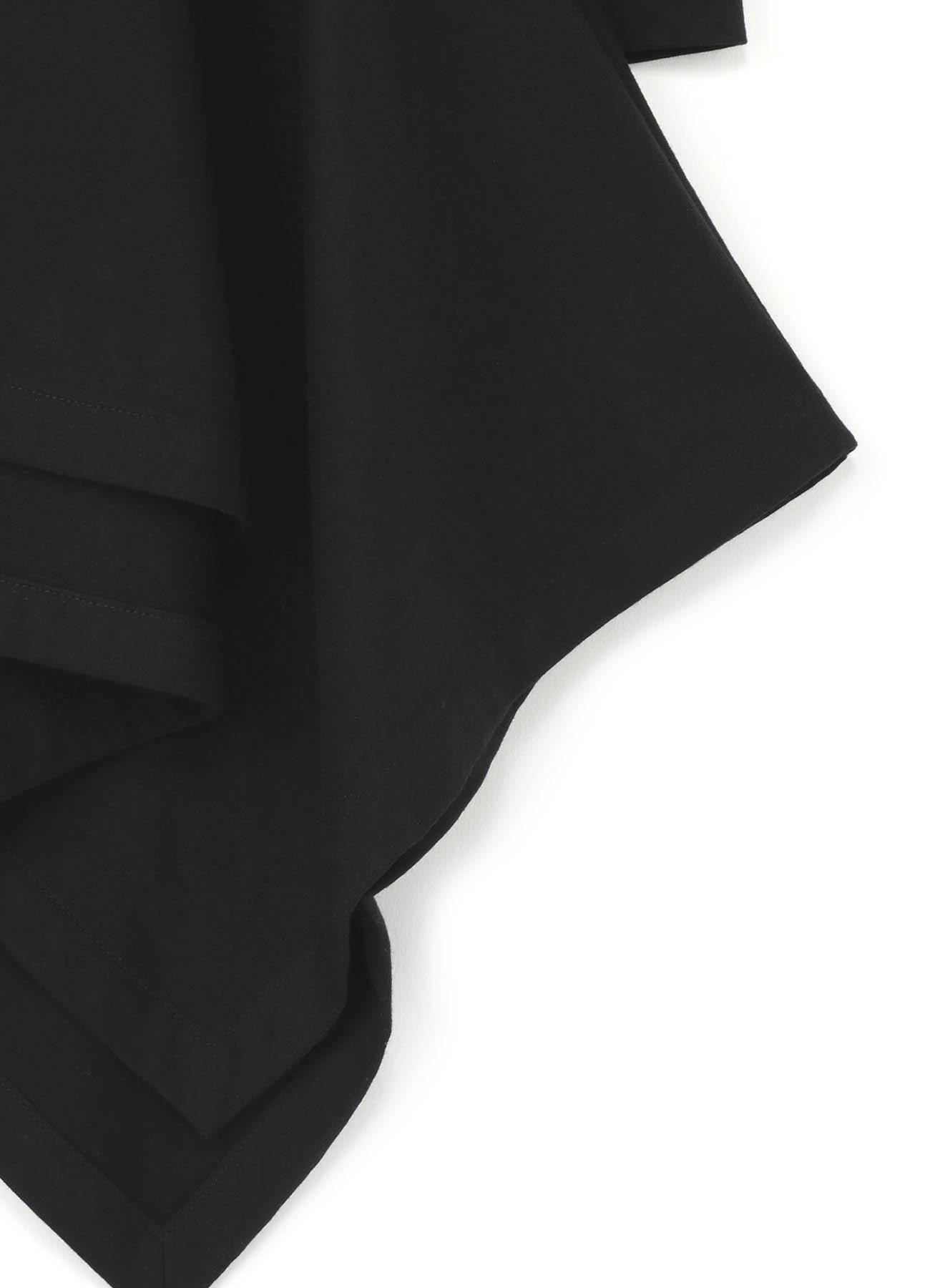 莫代尔平纹针织垂褶长袖T