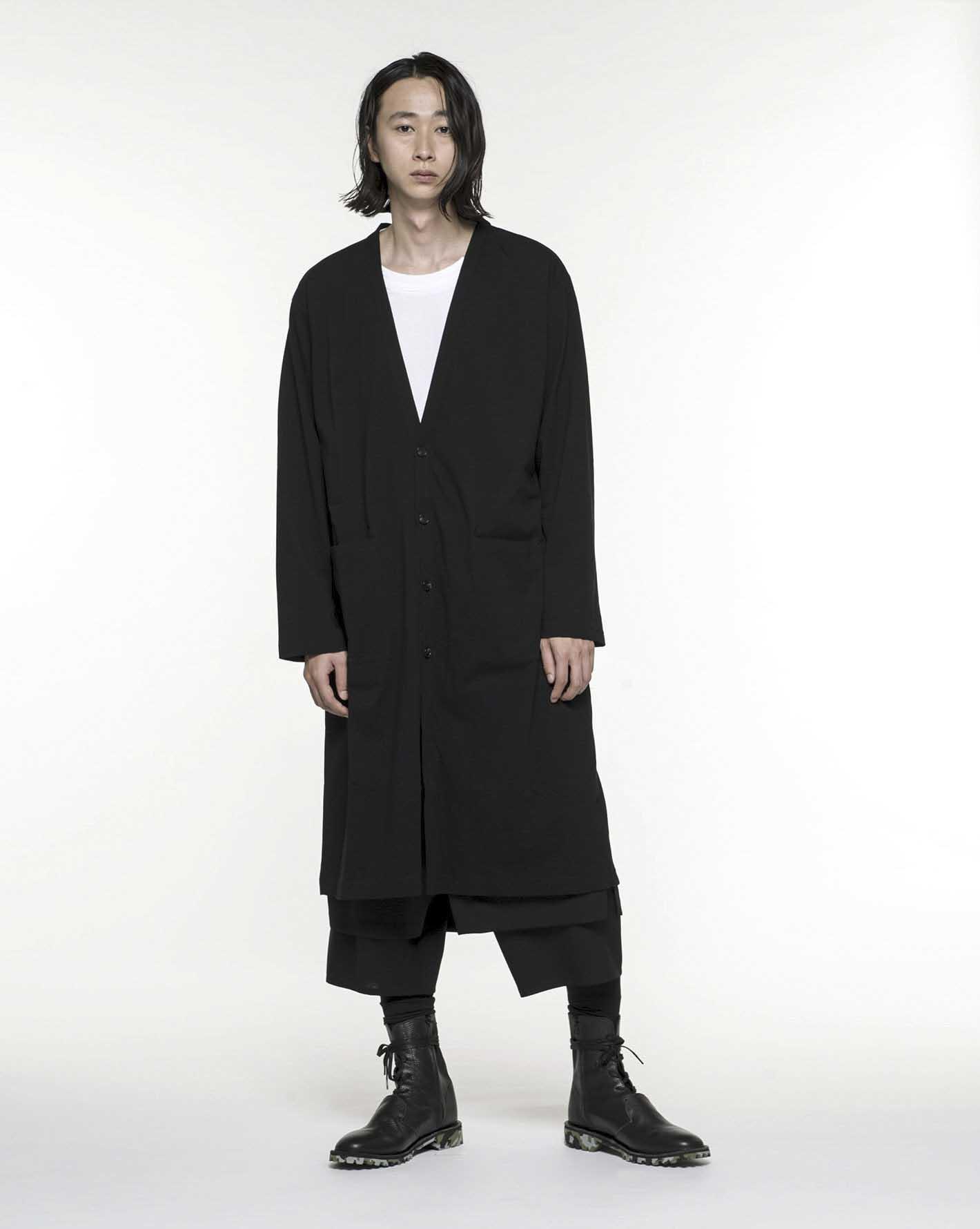 30/cotton Jersey Long Cardigan