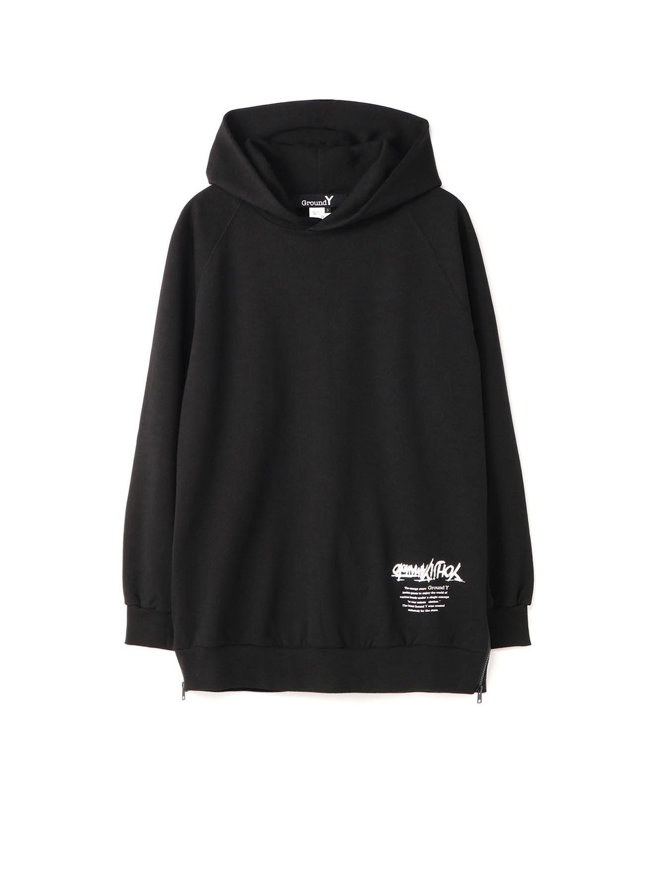 Yohji Yamamoto Upside Down LOGO Side Zipper Hoodie
