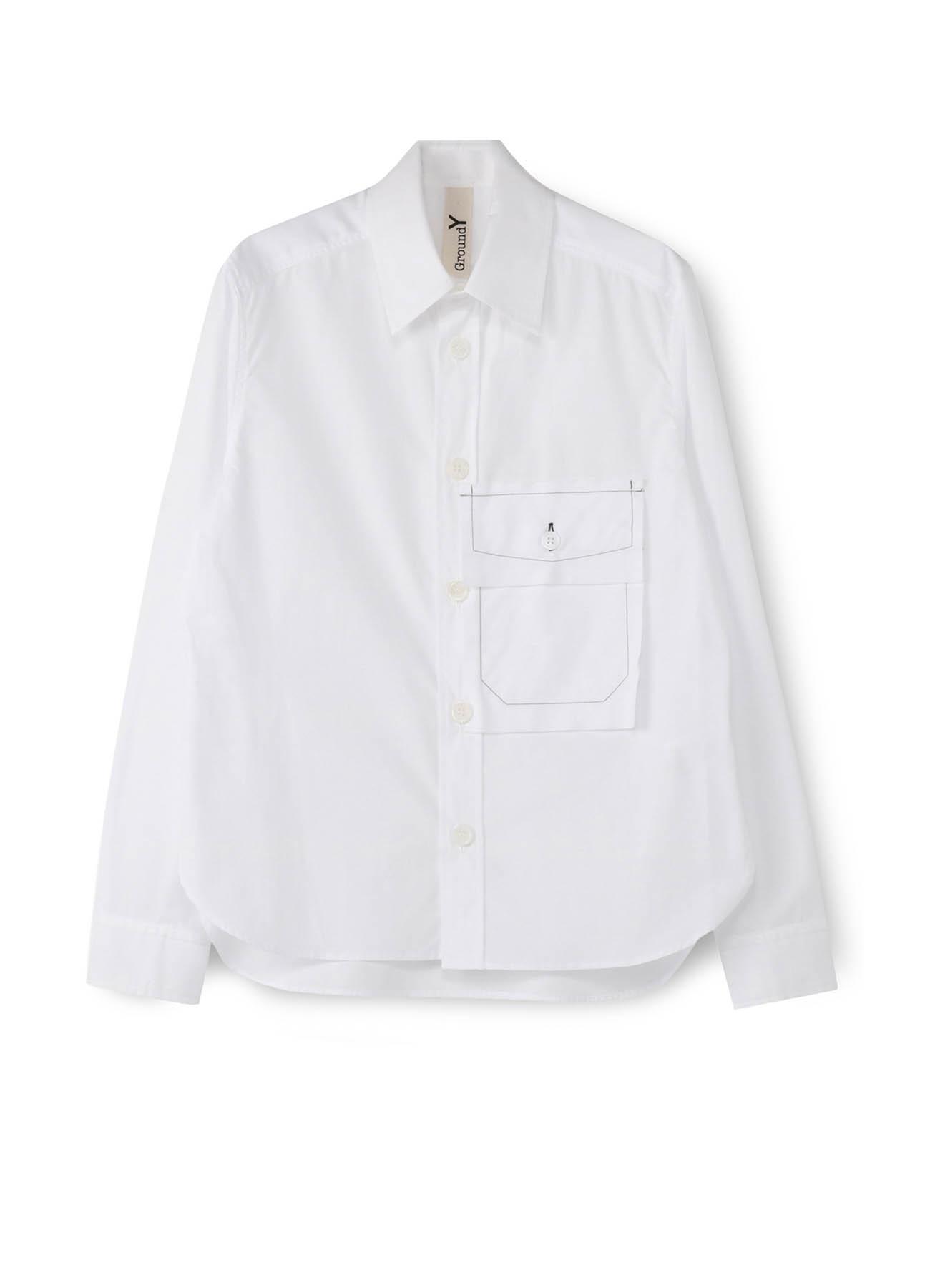 C/ブロード 裁ち切りポケットシャツ