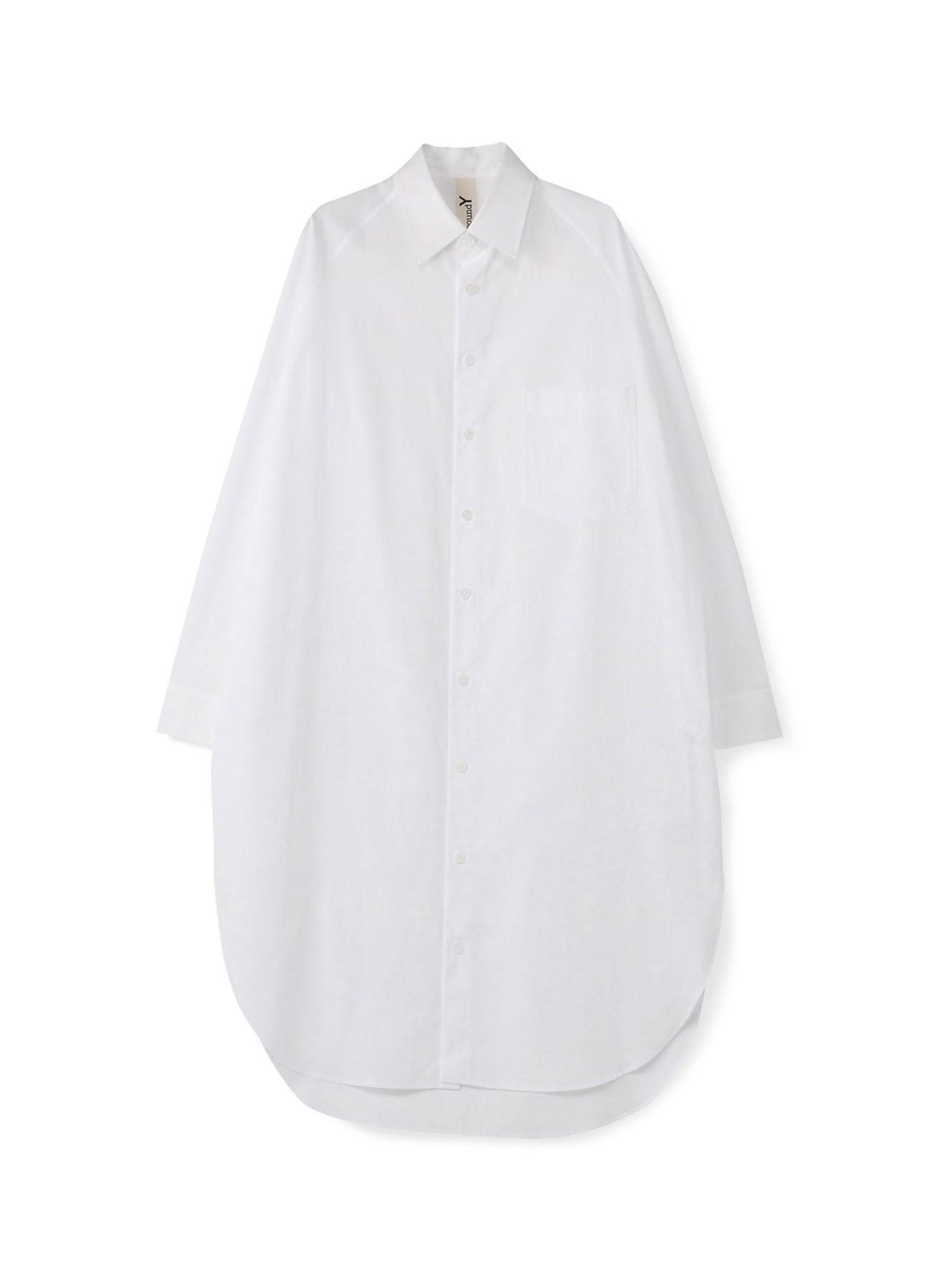 C/ブロード 前ラグランビッグシャツ
