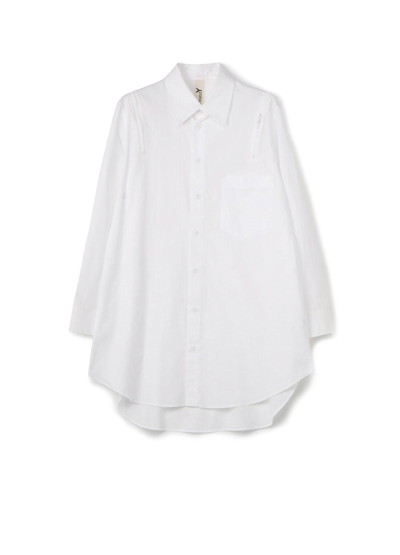 纯棉双肩拉链衬衫
