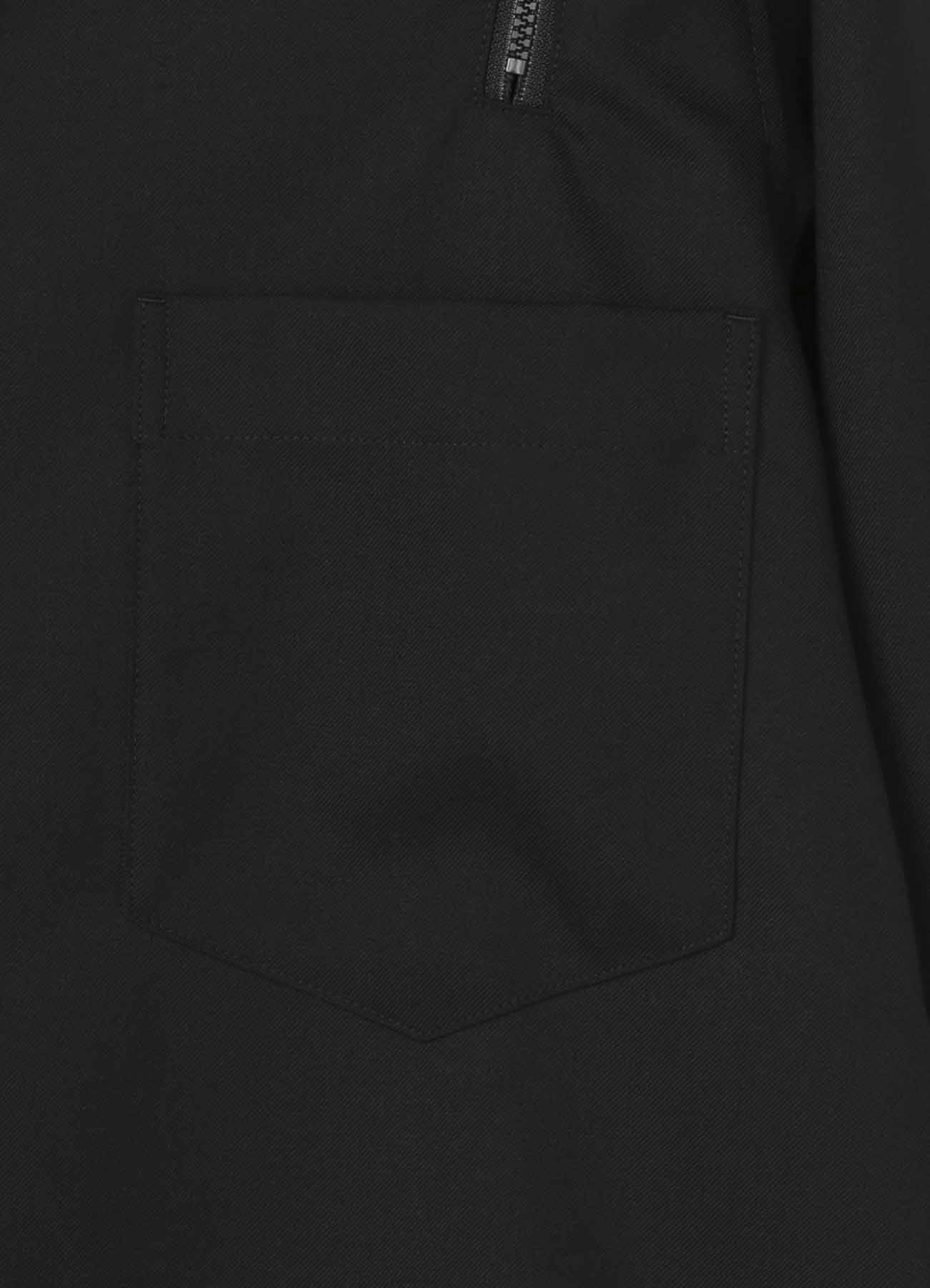 混纺双肩拉链衬衫