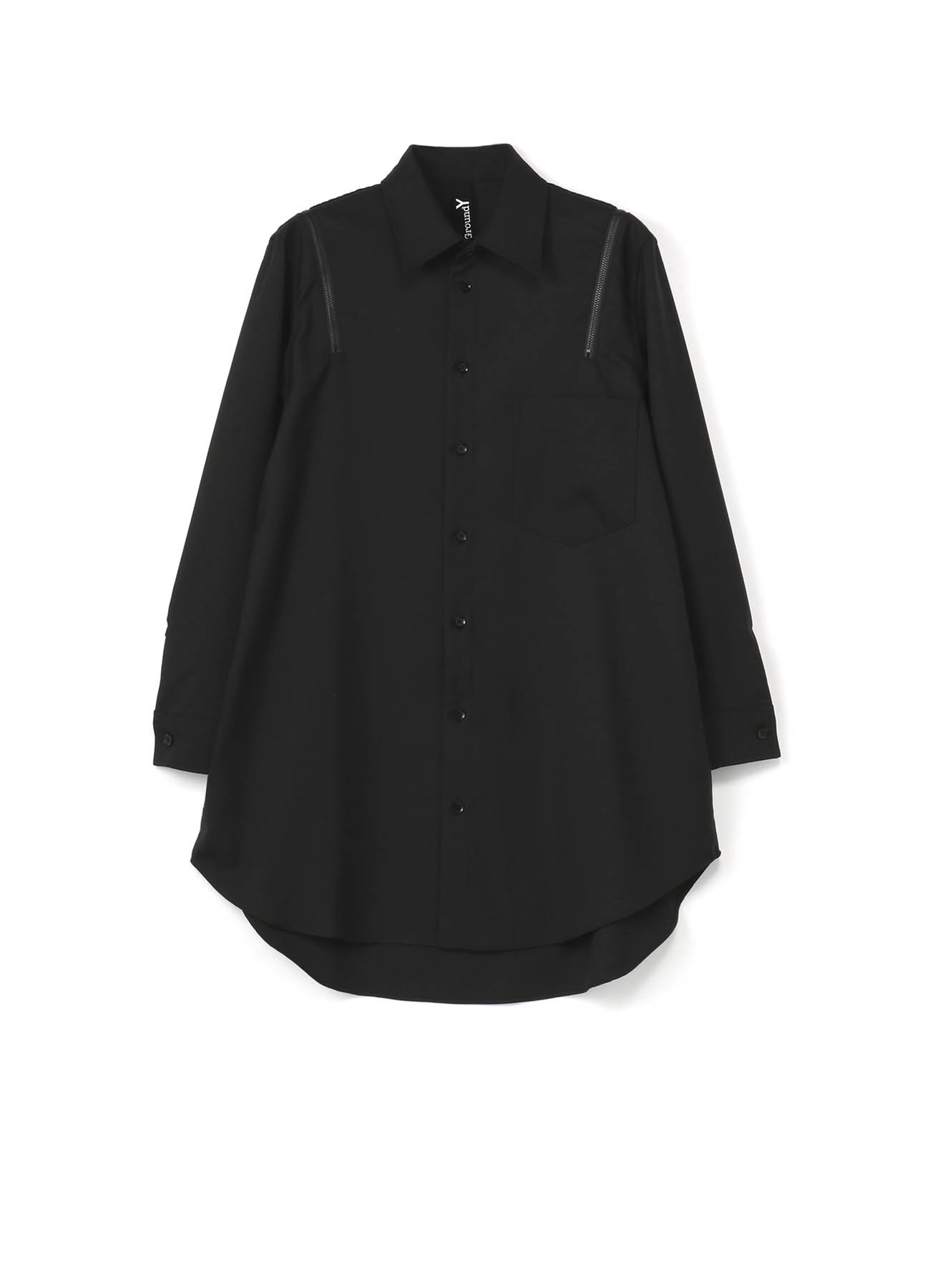 T/W? gaberdine Zipper Shirt