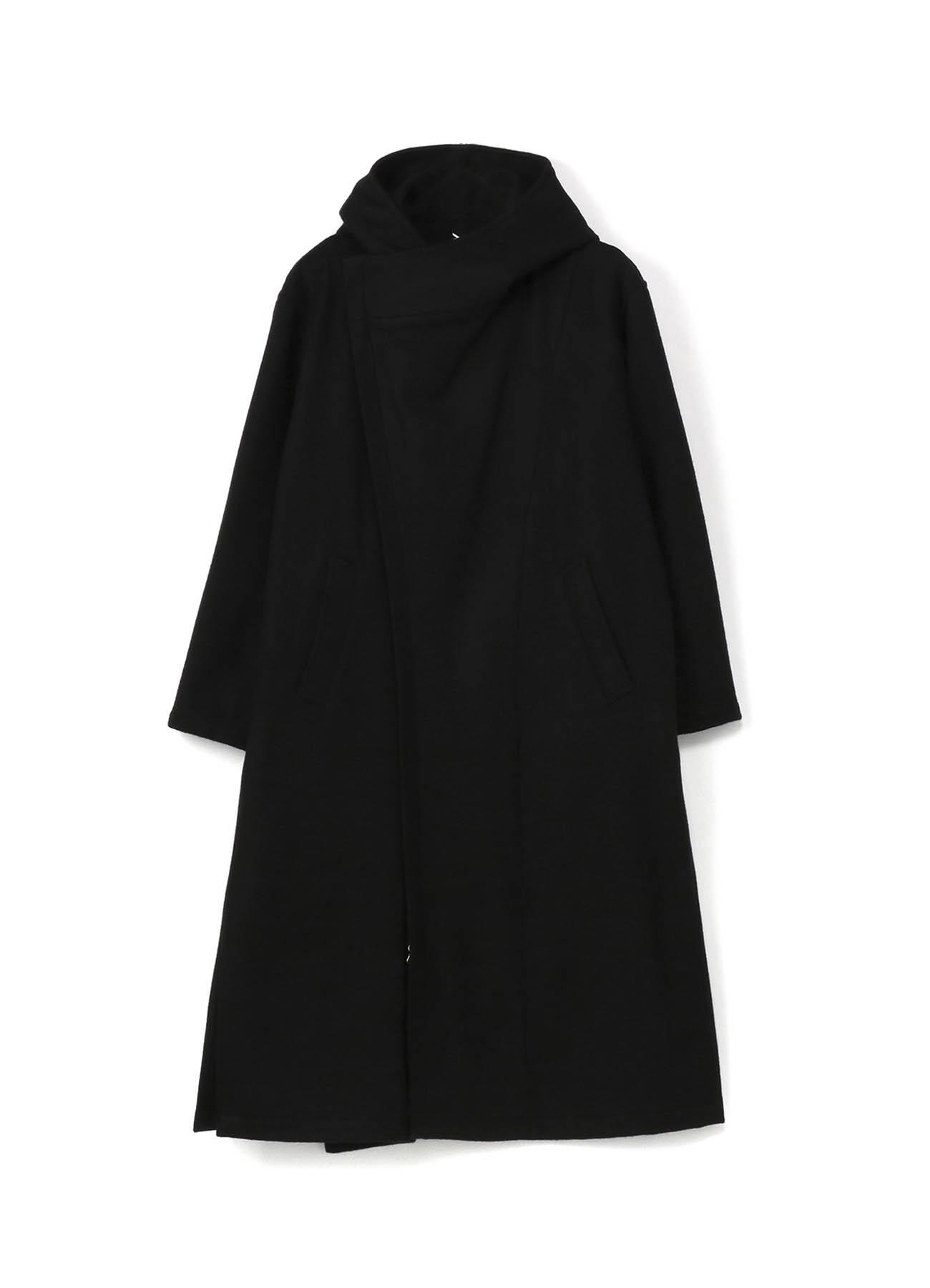 隐藏斜线拉链长款大衣
