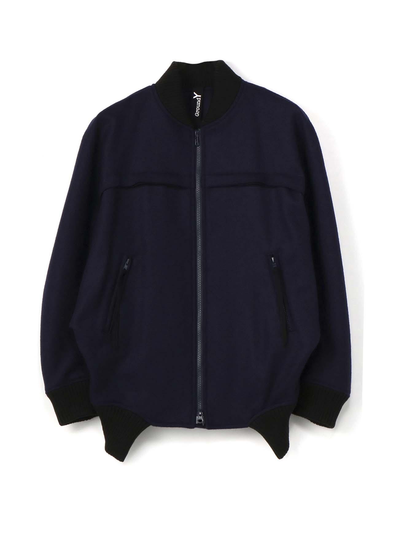 混纺拉链短夹克