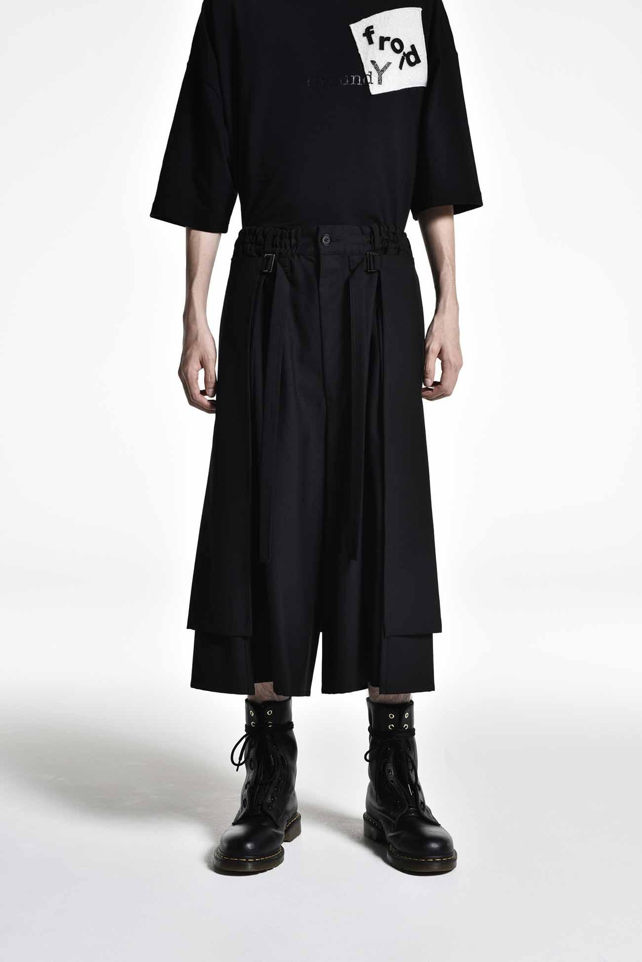 叠穿双层裤裙