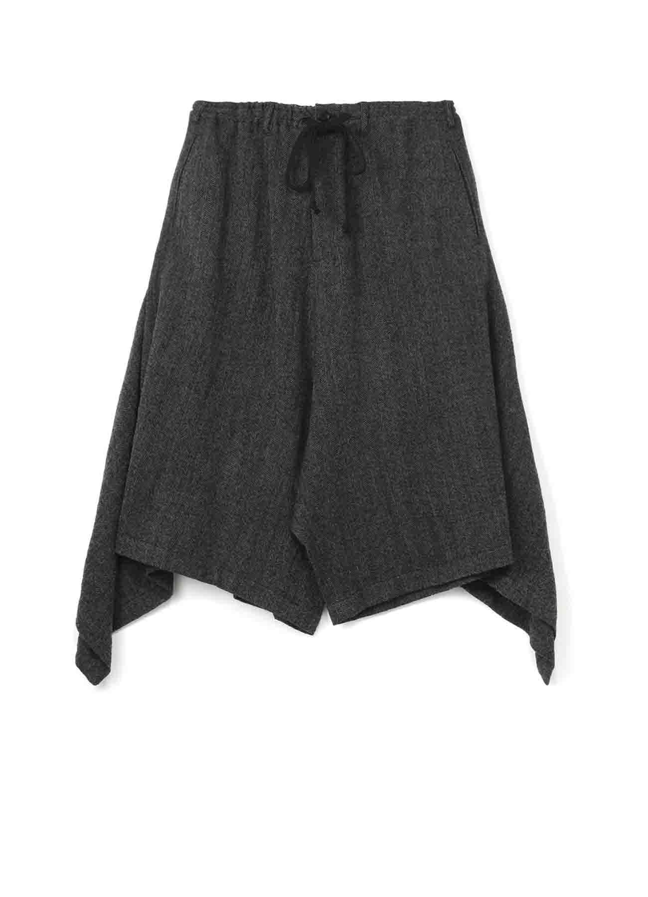 羊毛飘逸裤裙
