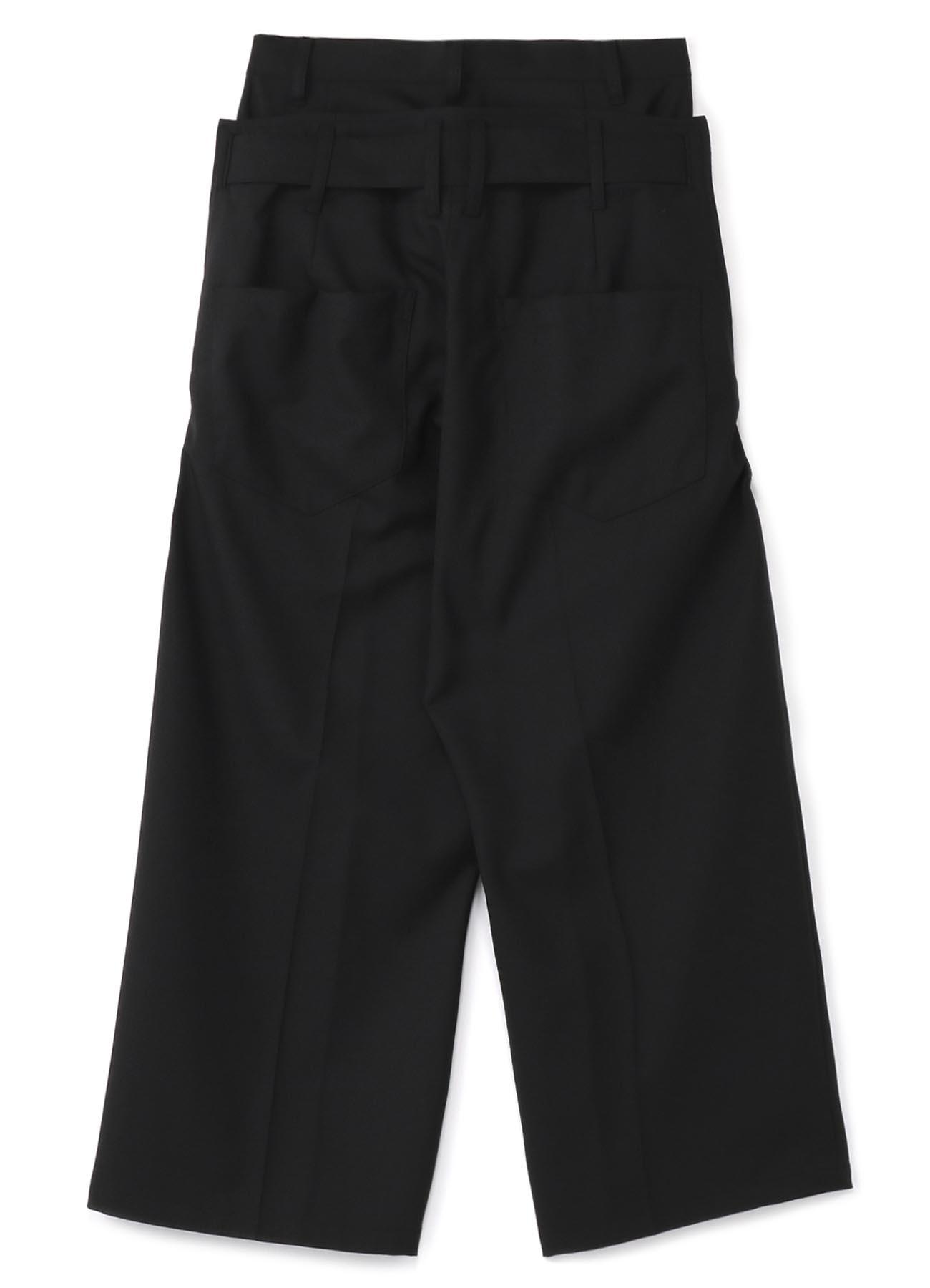 混纺叠穿风长裤