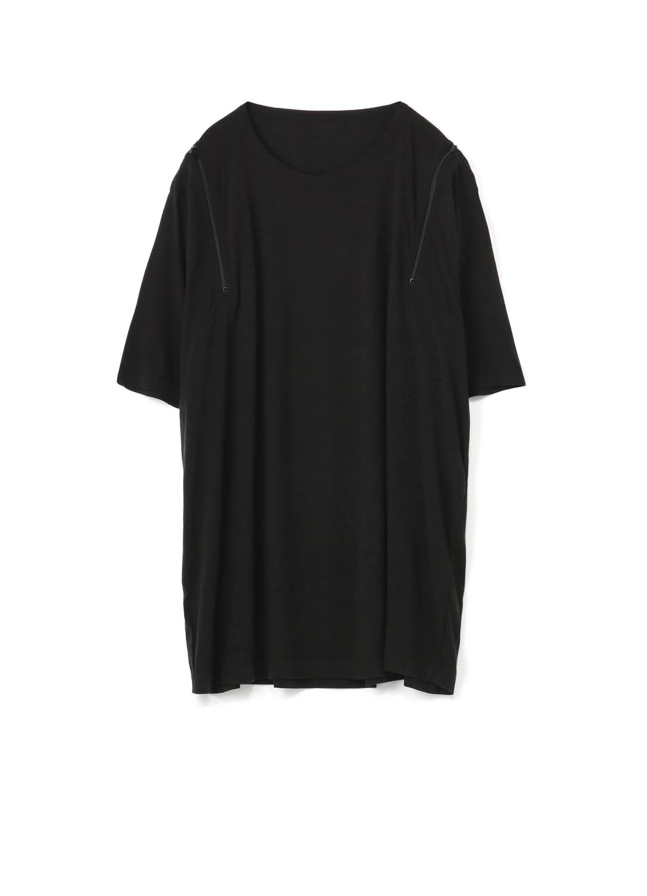拉链半袖针织衫