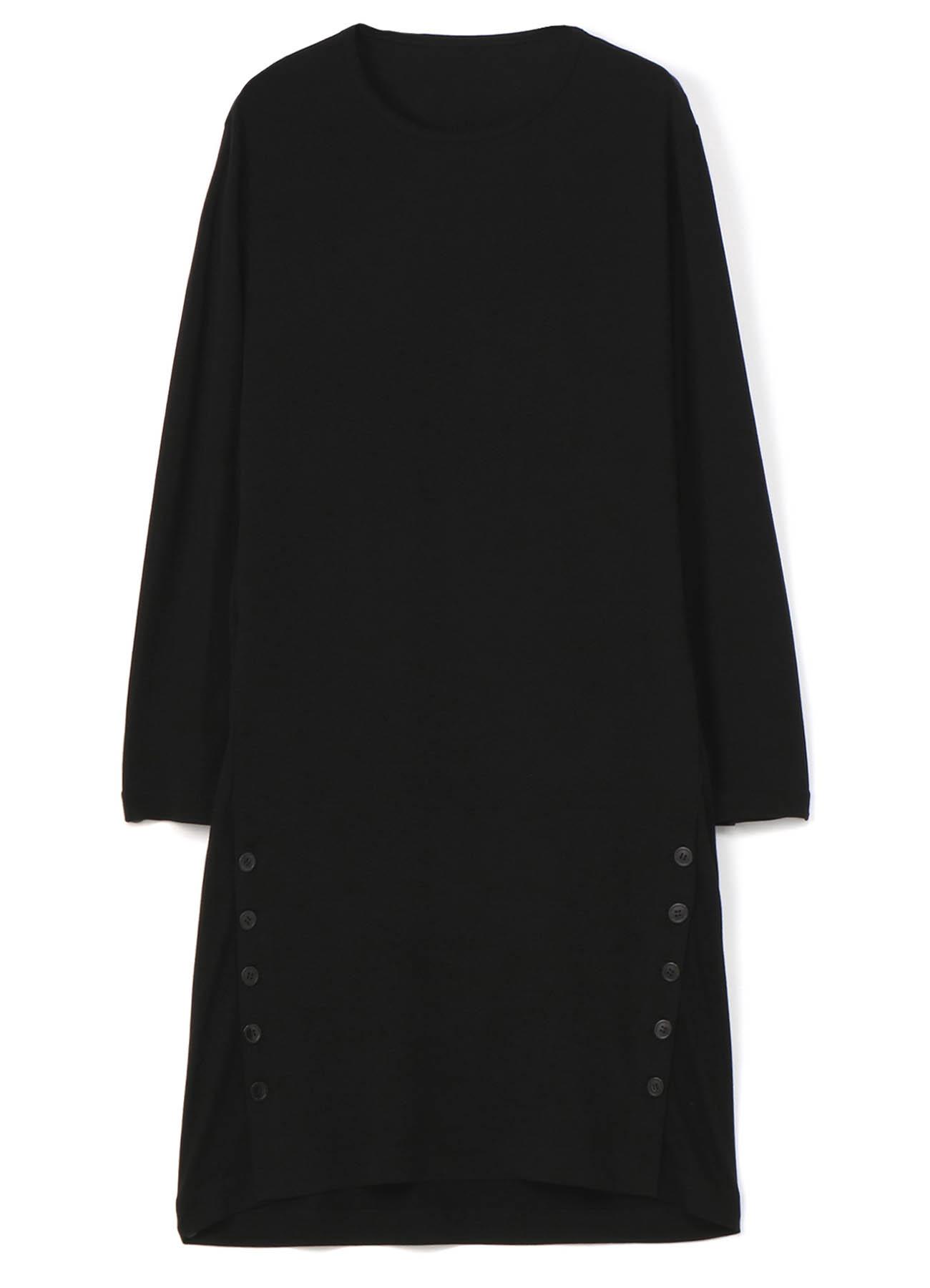复古设计+纽扣天丝垂坠长款针织衫