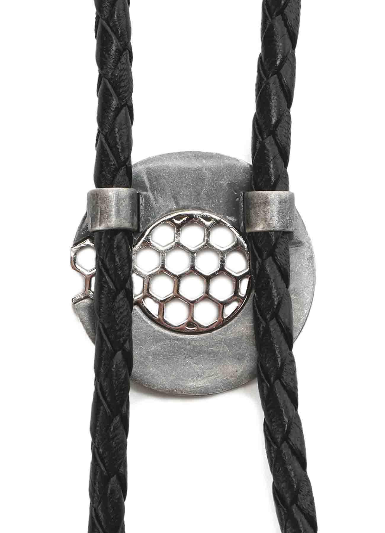 Brass Leather Strap Loop Tie
