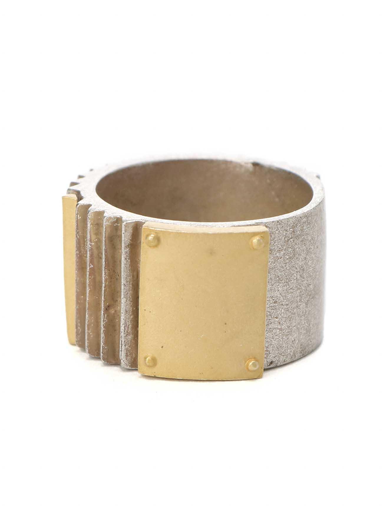 Brass Striped Ring