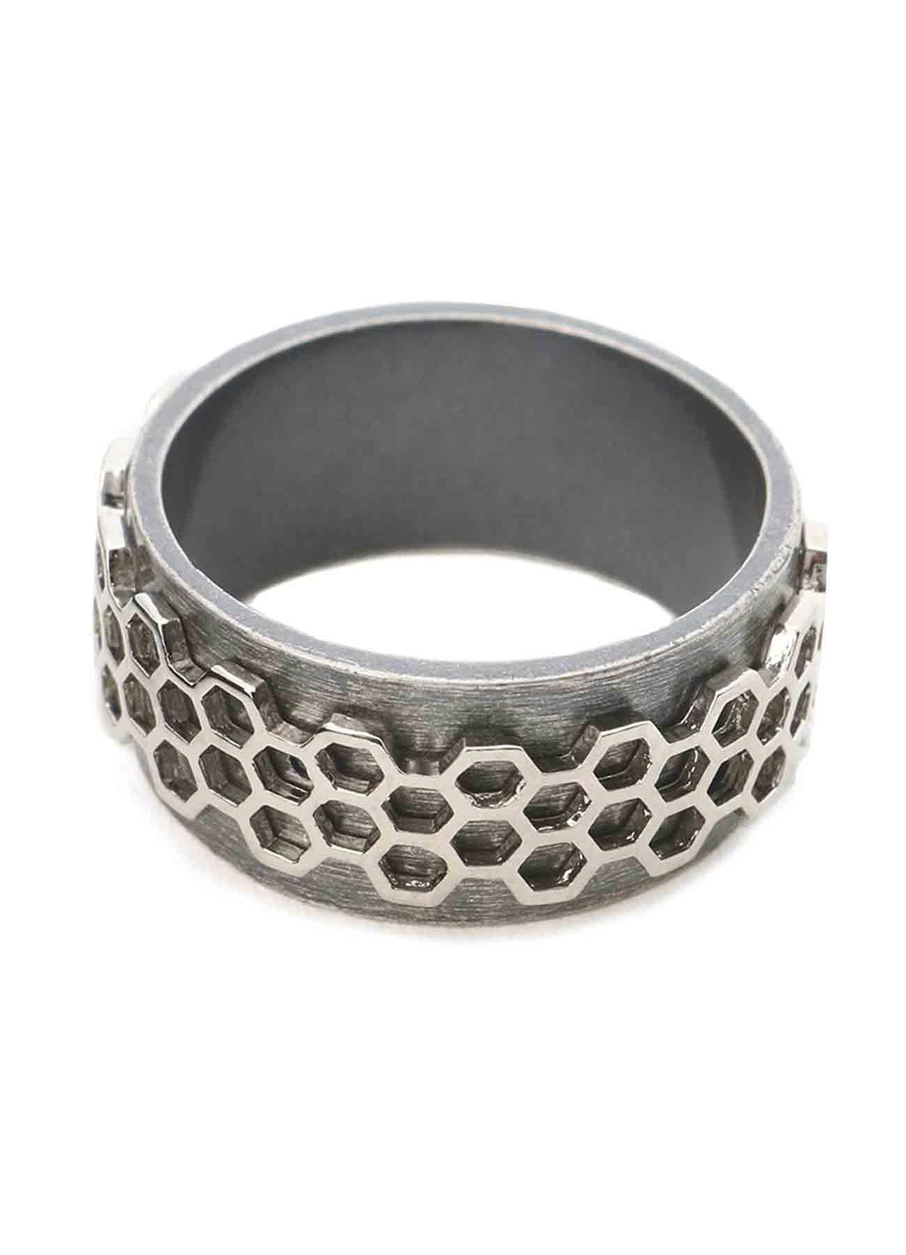 Brass Honeycomb Ring
