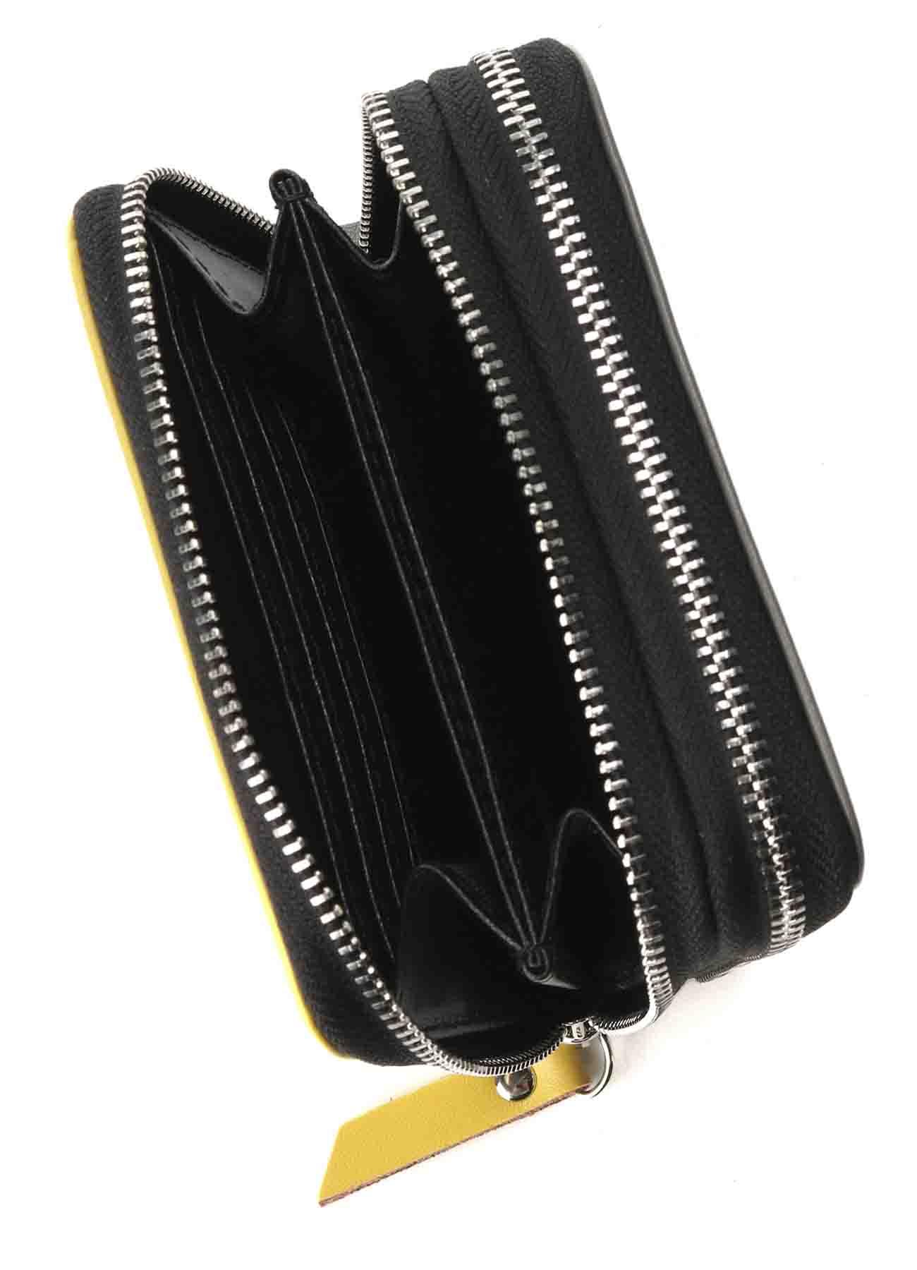 Split Leather 2 colors Zipper Wallet