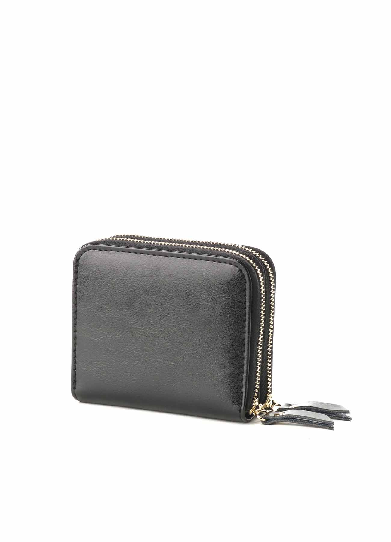 Split Leather Zipper Wallet