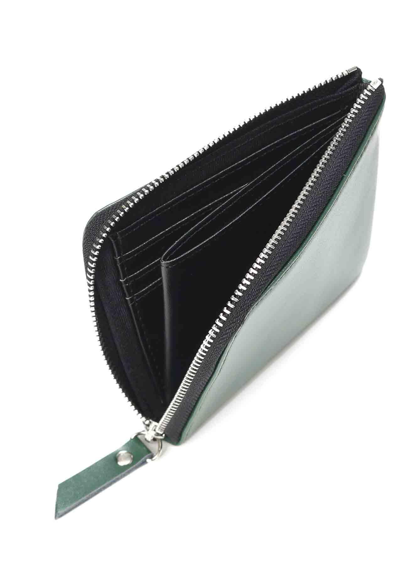 Split Leather L-Shaped Wallet