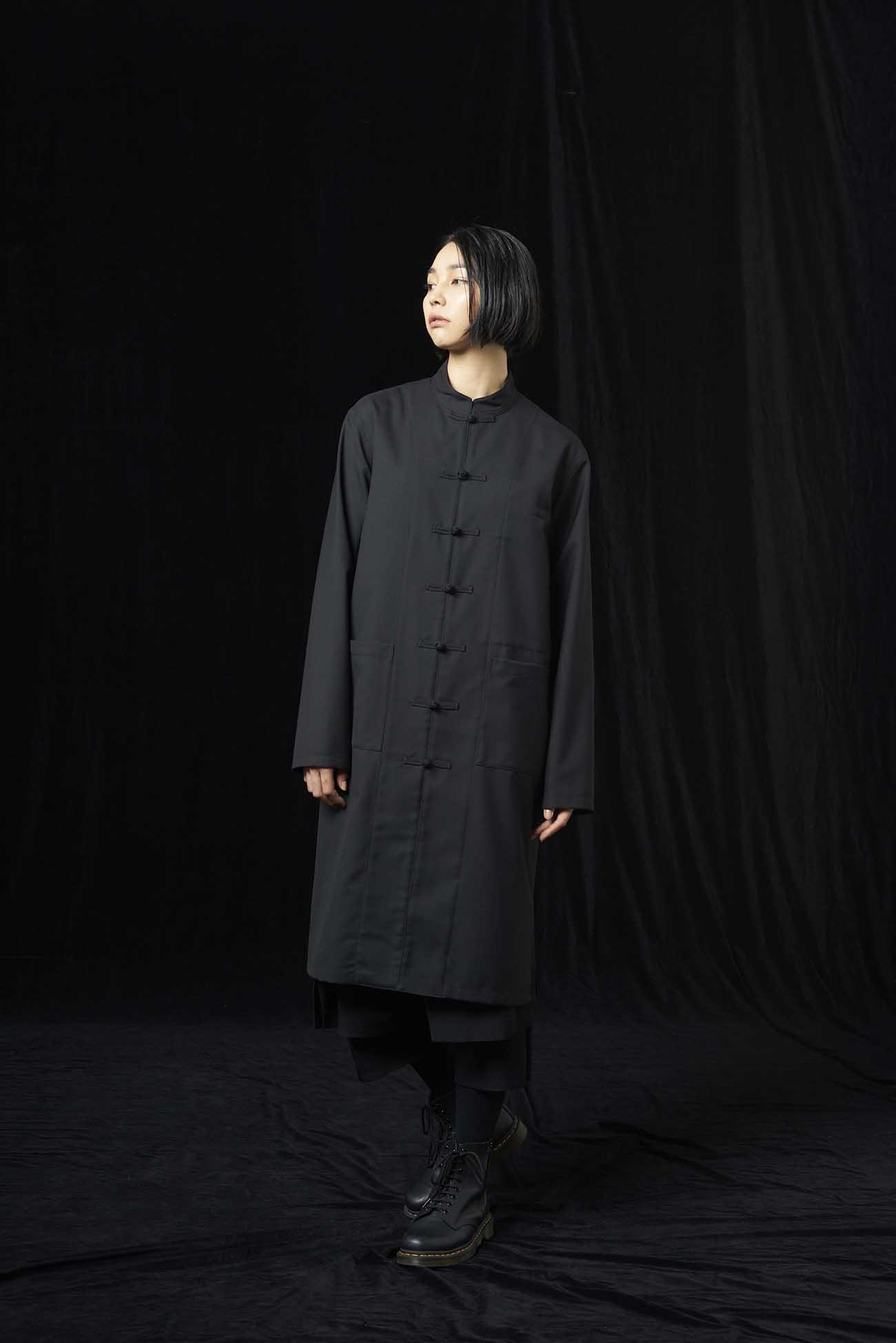 T/W Gabardine Long China Shirt