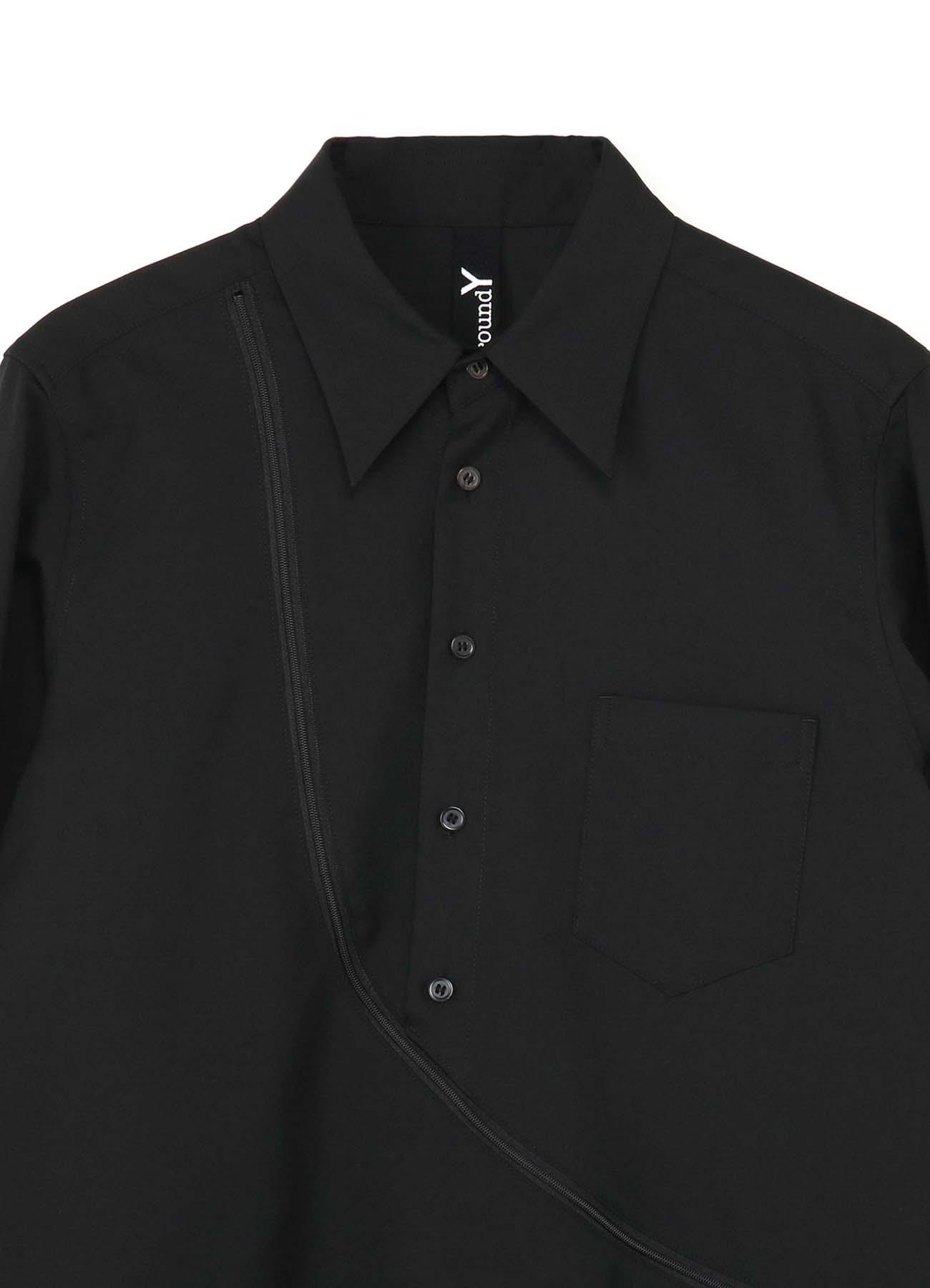 T/W Gabardine Deformed Zipper Shirt