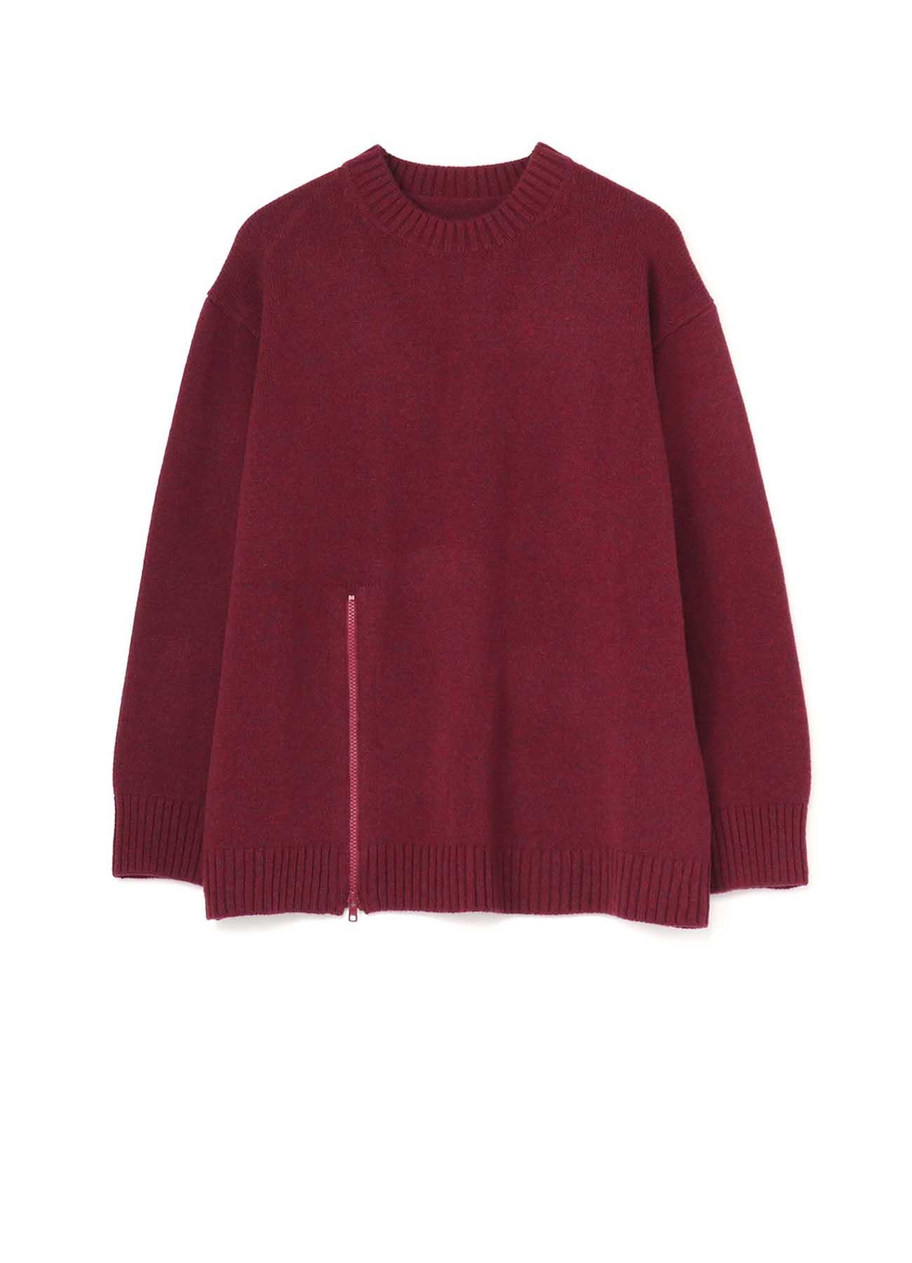 SLH Knit Round Neck Zipper