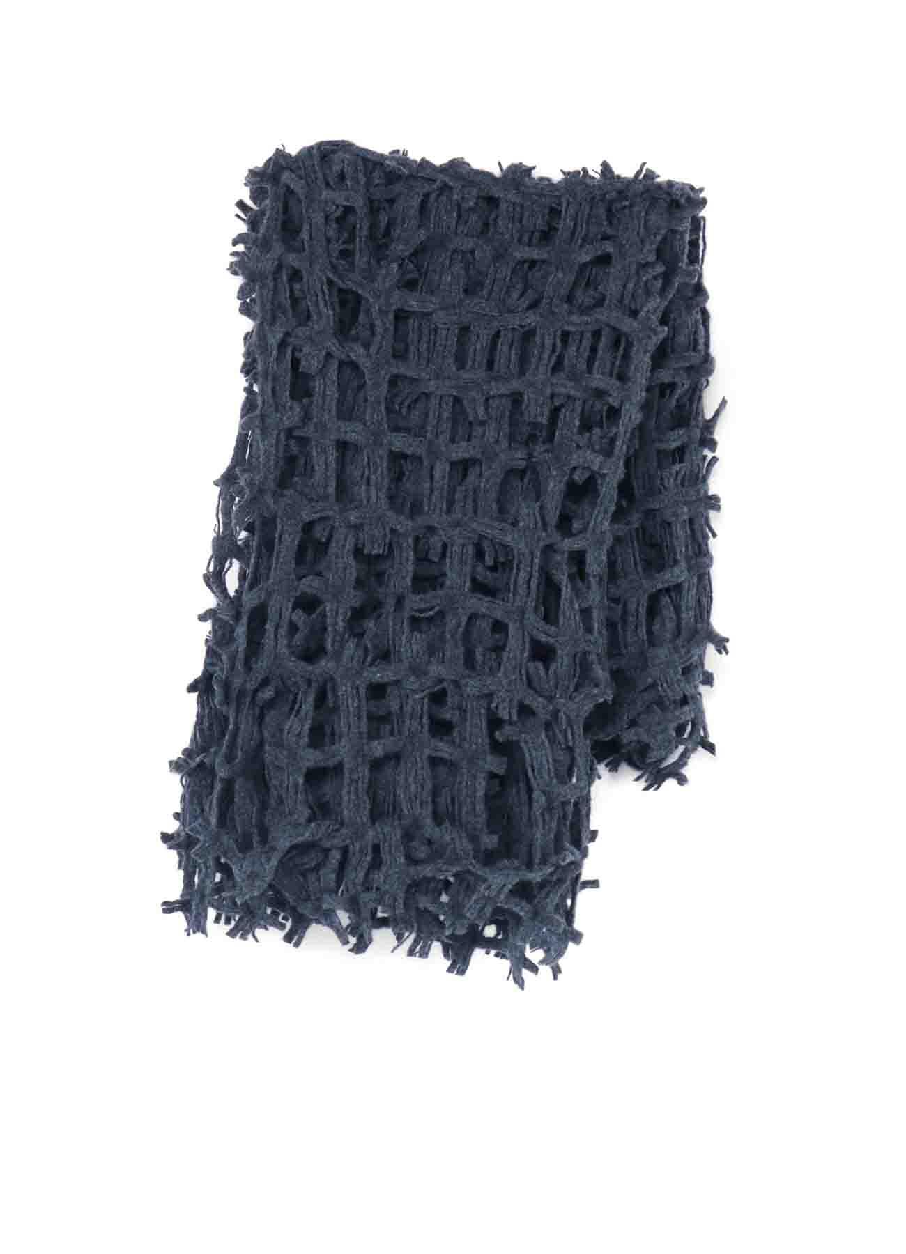 Dobby Wool Lattice Stole