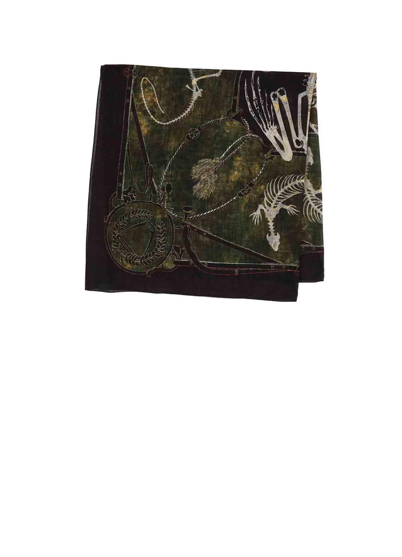 Bandana Pattern Scarf [lizard]